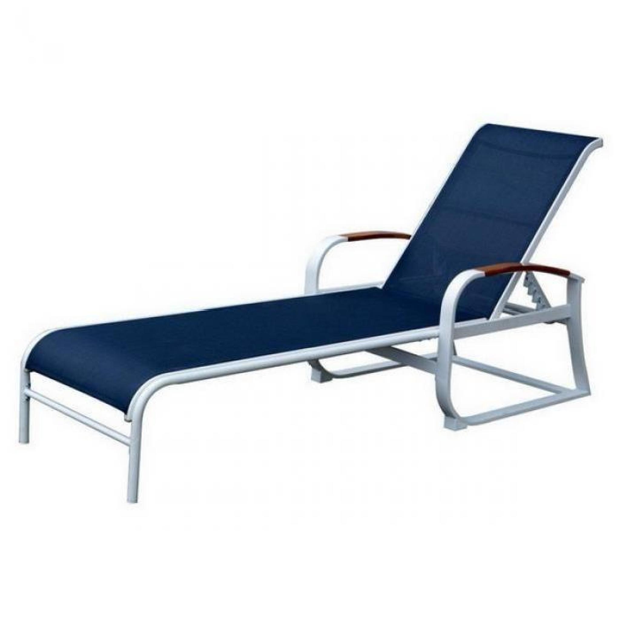 Longue chaise jardin empilable acier tube chaise achat - Chaise longue de jardin pas cher ...