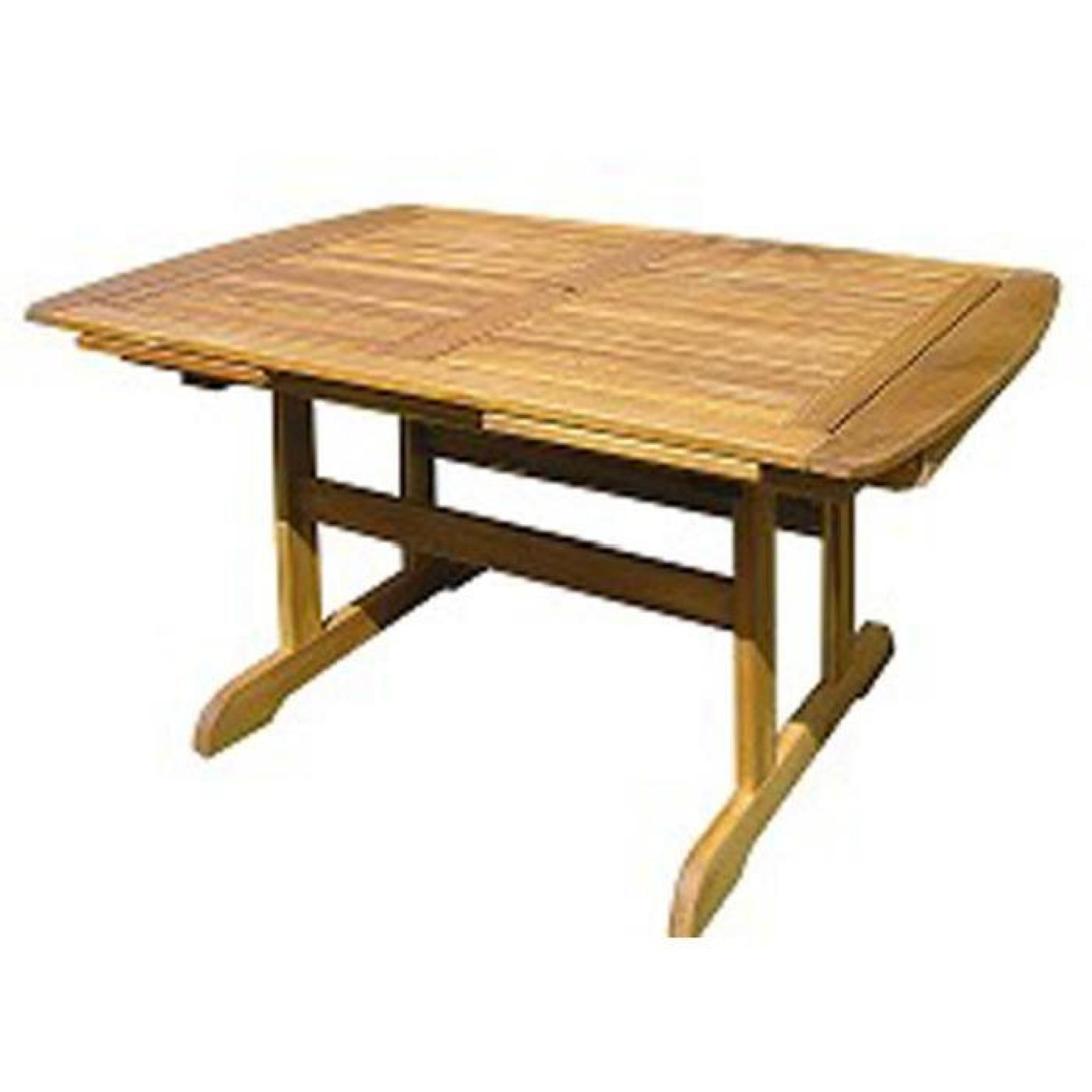 Lot 2 tables rectangulaires extensibles en bois d\'acacia Taylor