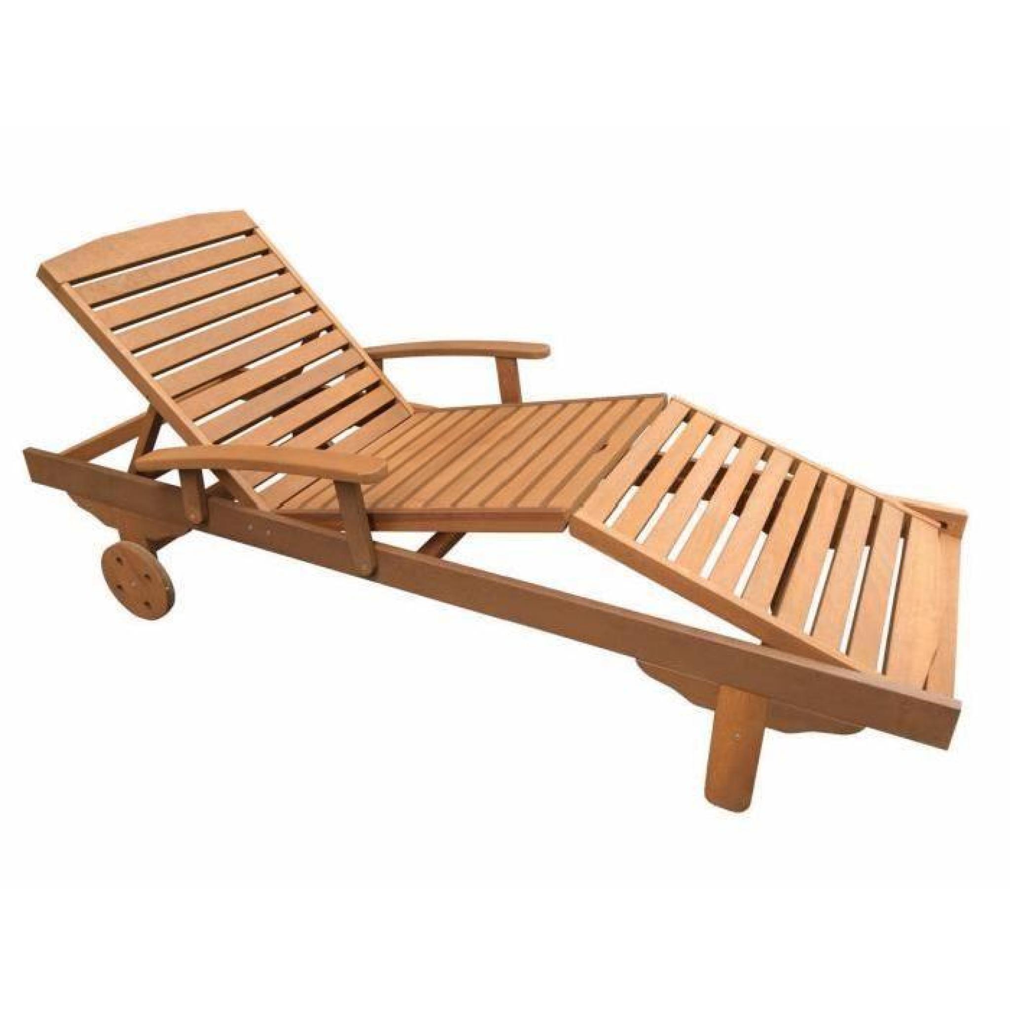 lot de 2 bains de soleil pliant en bois exotique singapour maple marron clair - Transat Bois Pas Cher