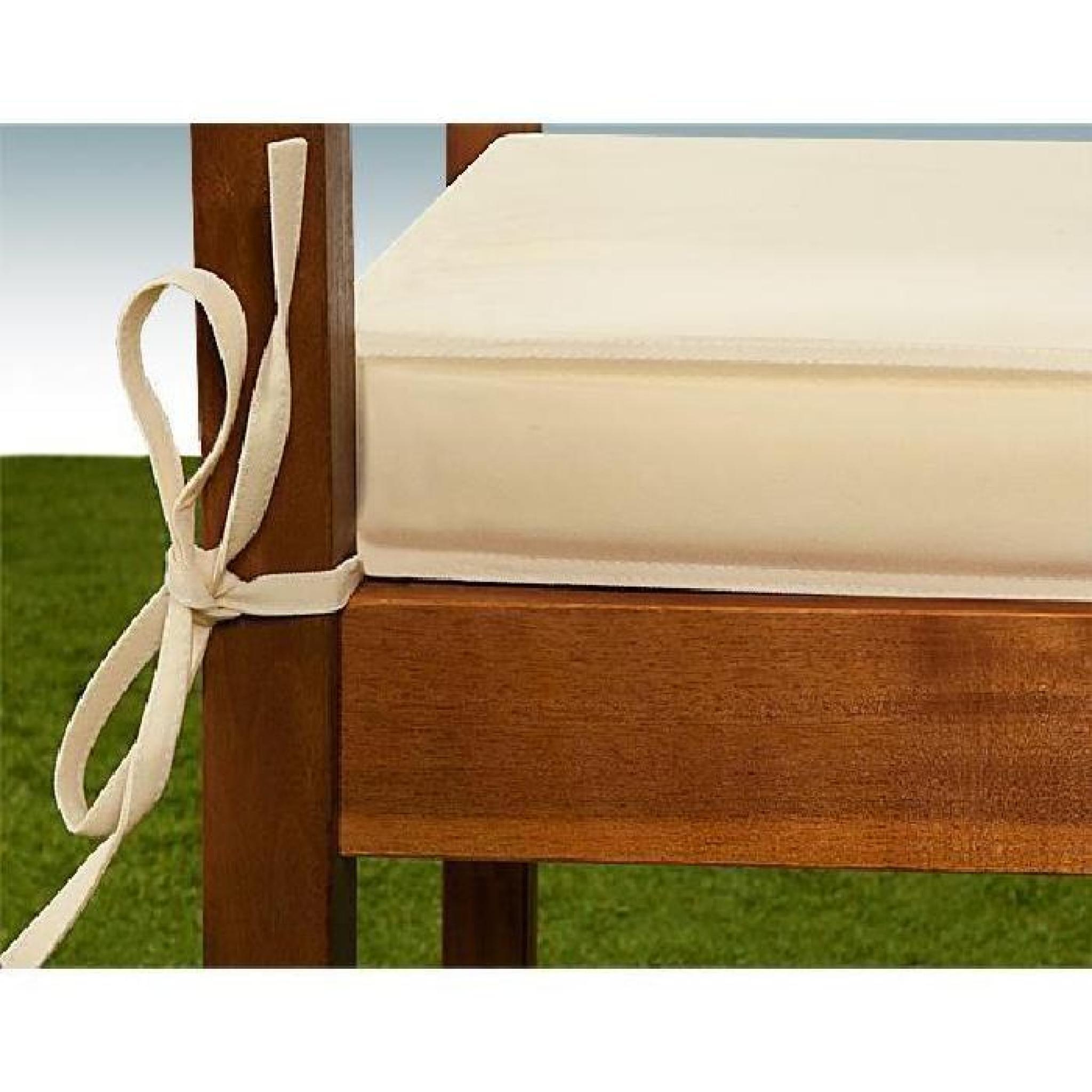 coussin pour banc cr me assise banc 110x45 cm achat vente coussin chaise de jardin pas cher. Black Bedroom Furniture Sets. Home Design Ideas
