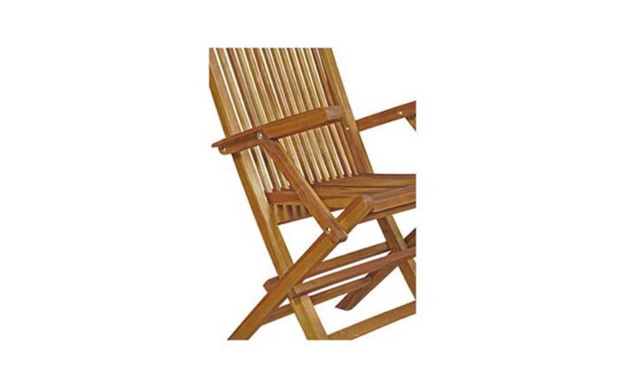 lot de 4 fauteuils pliants en teck huil 233 achat vente fauteuil de jardin en teck pas cher