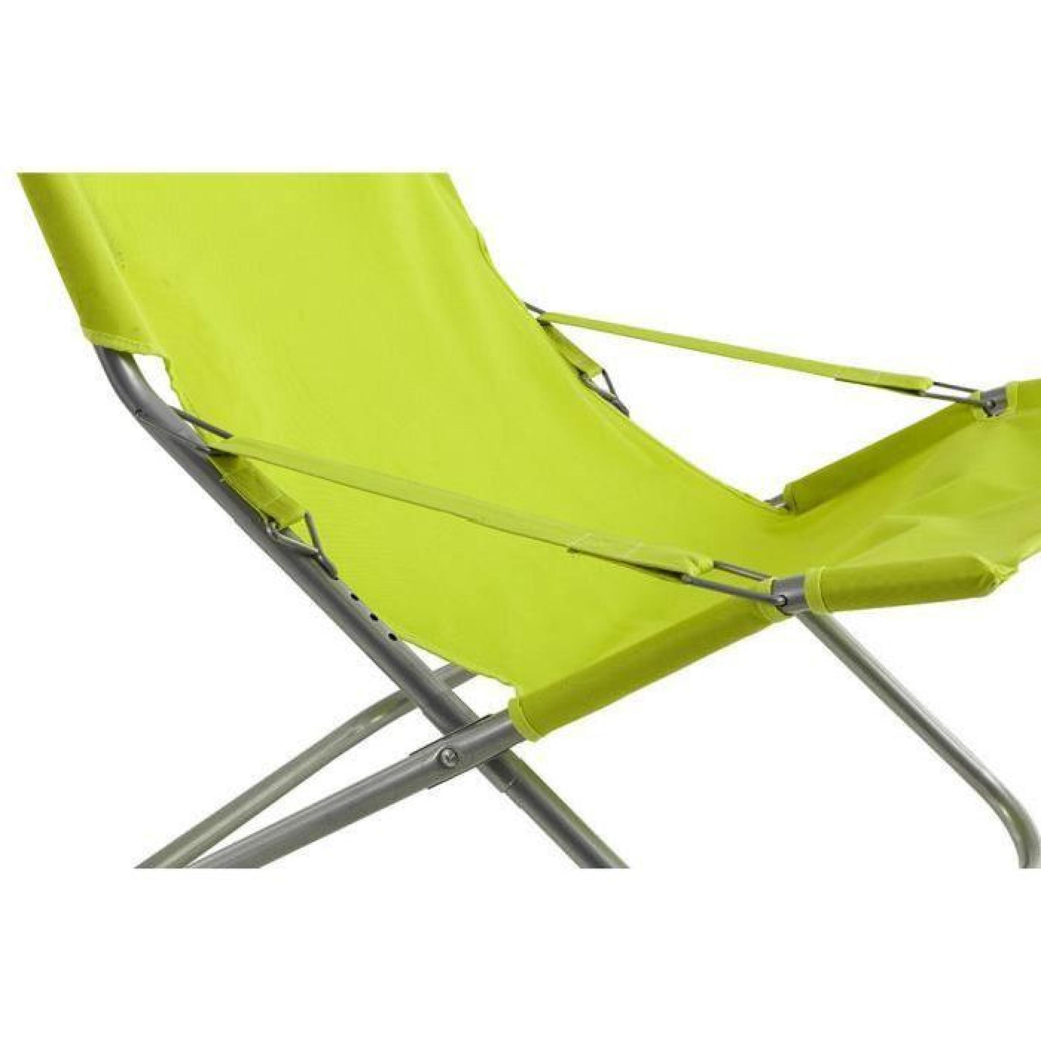 lot de 4 fauteuils relax coloris granny dim x x cm achat vente fauteuil de. Black Bedroom Furniture Sets. Home Design Ideas