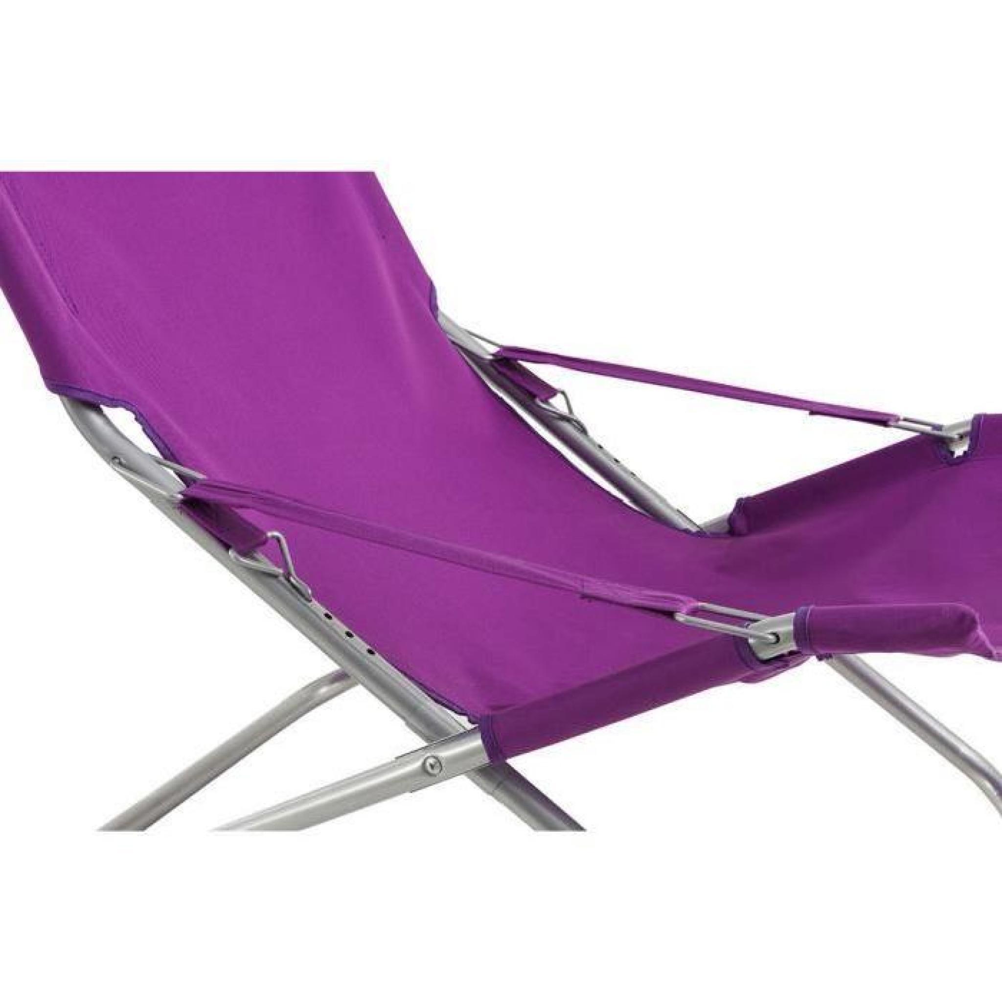 lot de 4 fauteuils relax coloris violet dim x x cm achat vente fauteuil de. Black Bedroom Furniture Sets. Home Design Ideas