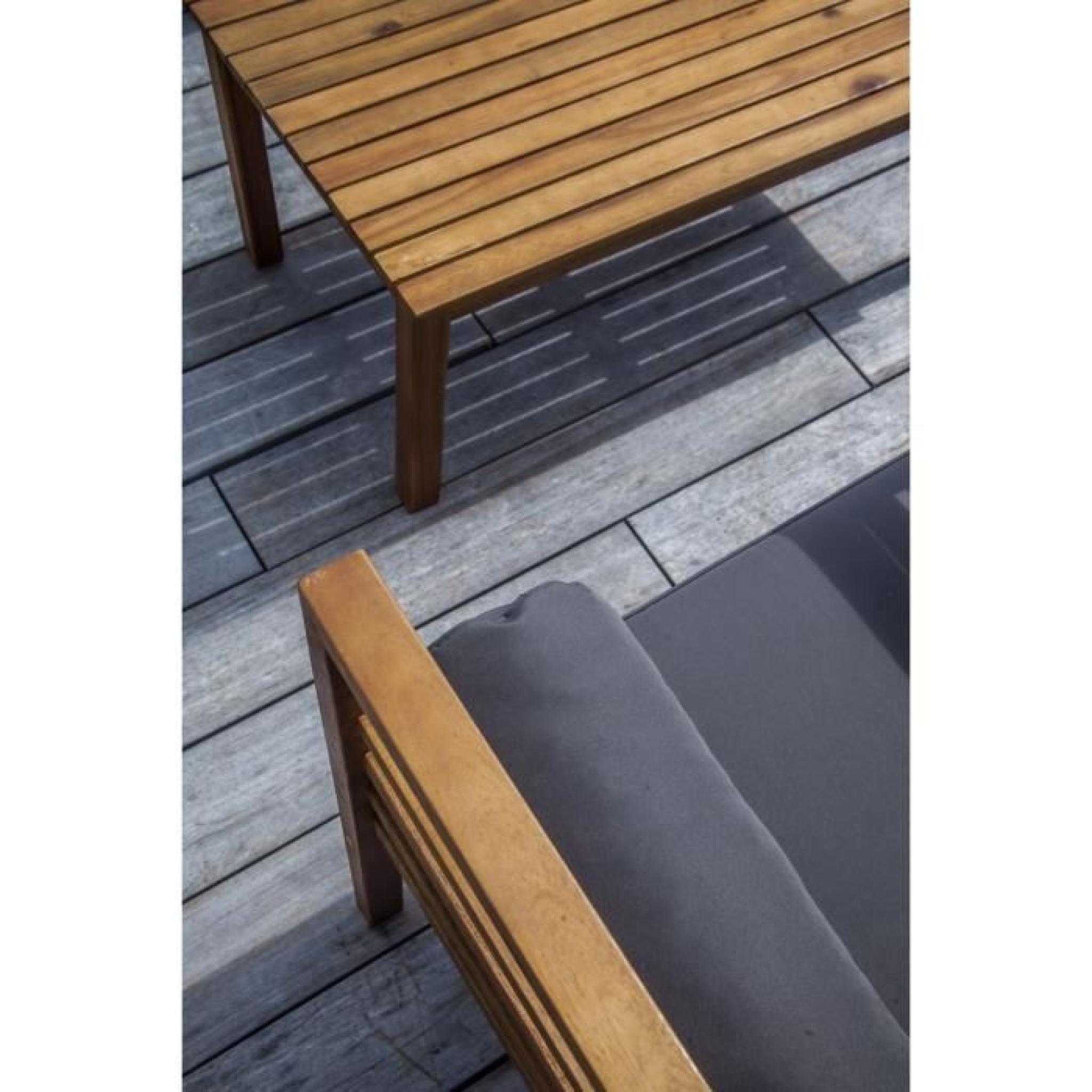 MAJORQUE Salon de jardin 4 places en bois acacia - Marron