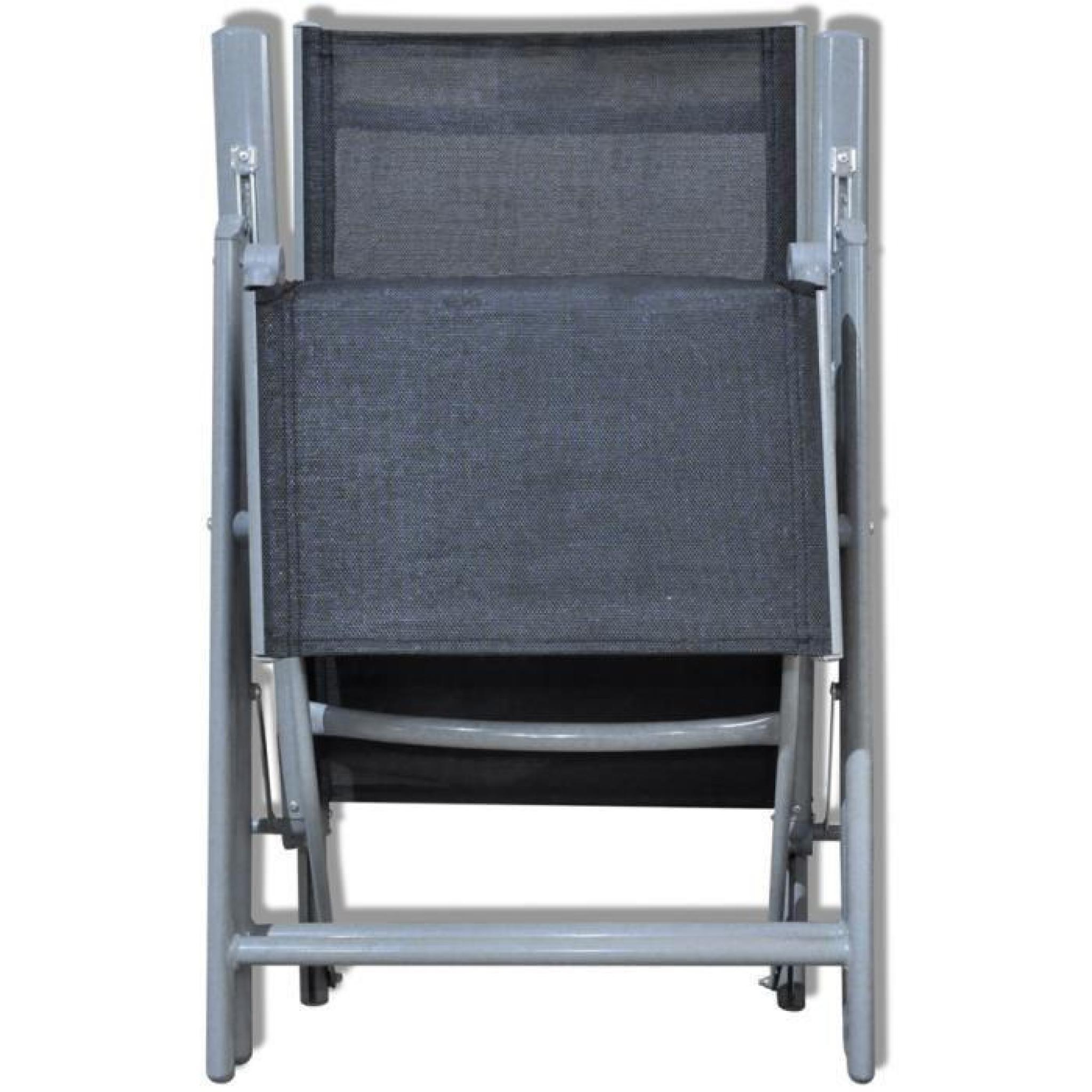 Meuble De Jardin Chaise Pliante Armature En Aluminium Pas Cher