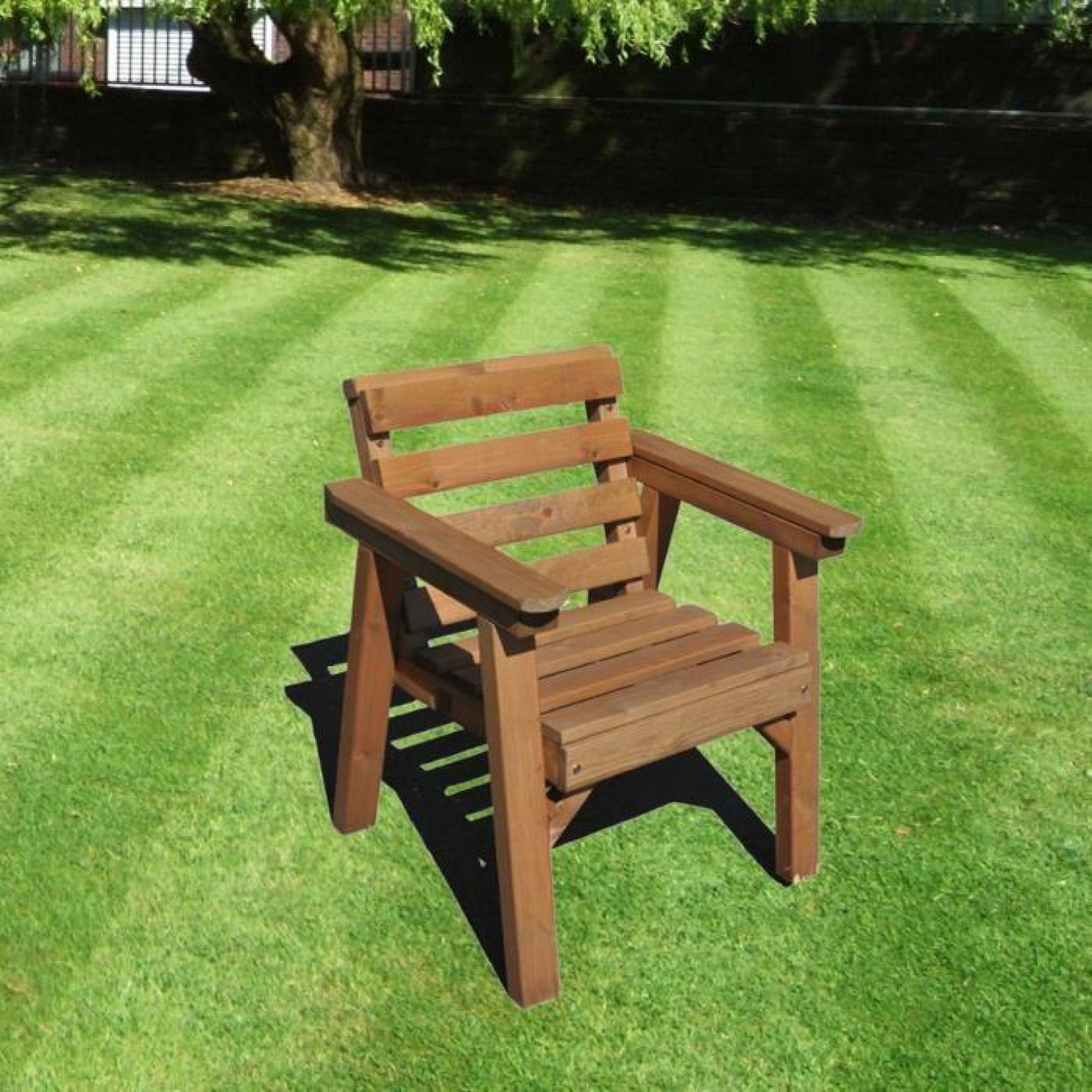 Meubles de jardin patio d finir seule chaise bois massif for Meuble de jardin en bois pas cher