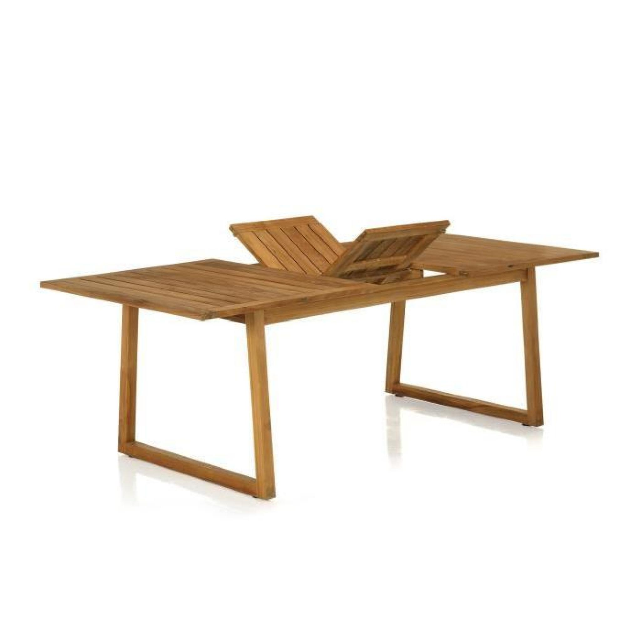 mia-table-de-jardin-rectangulaire-en-teck-a-allong-2 Frais De Table Extensible Cdiscount