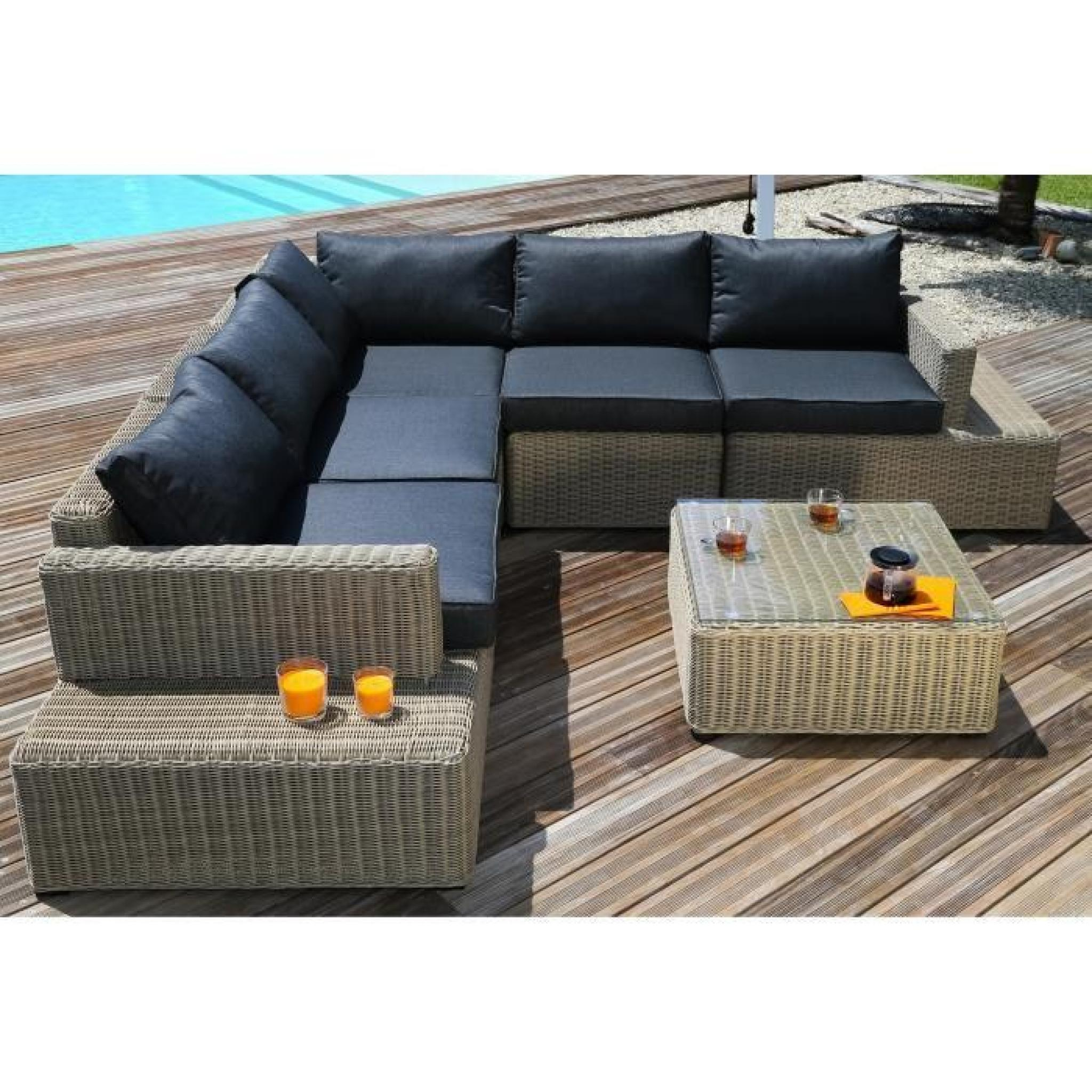 best salon de jardin marron resine miami photos. Black Bedroom Furniture Sets. Home Design Ideas