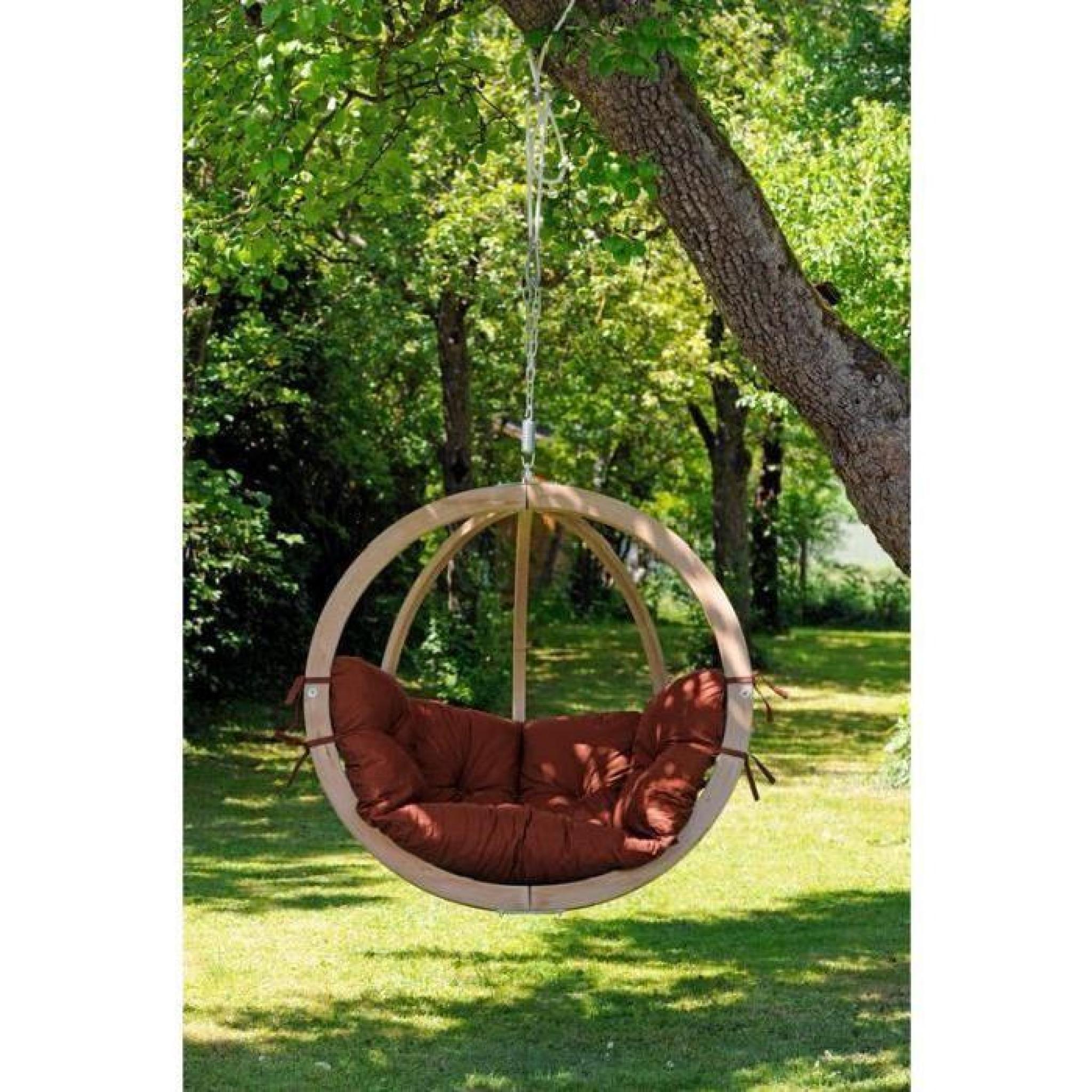 Nacelle fauteuil epicea jardin suspendu cha ne coussin moelleux luxe achat vente fauteuil - Nacelle suspendue jardin ...