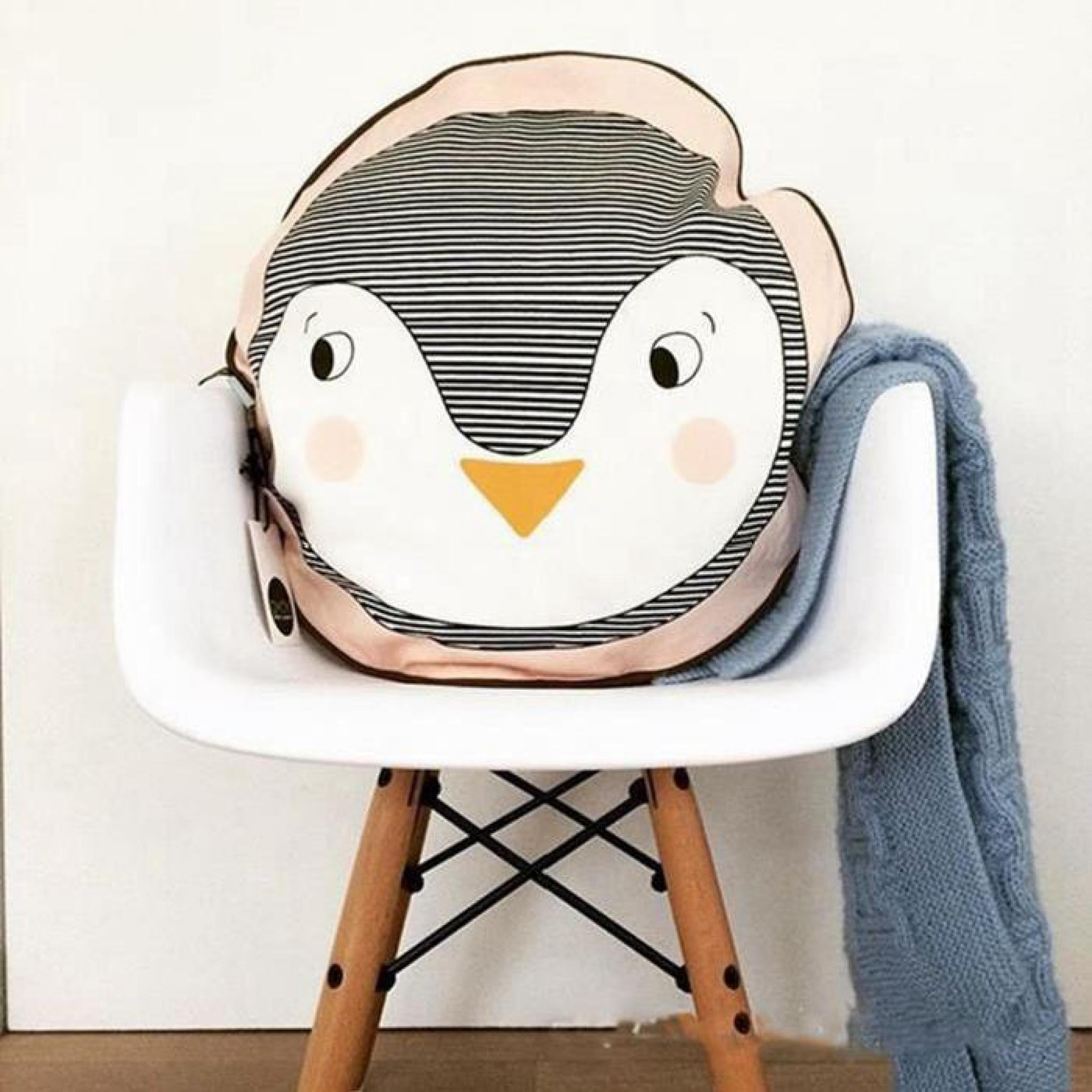 New 40 * 40 Penguin Face Pillow Children Infant Pillow Home Decoration Multifunctional Cushion