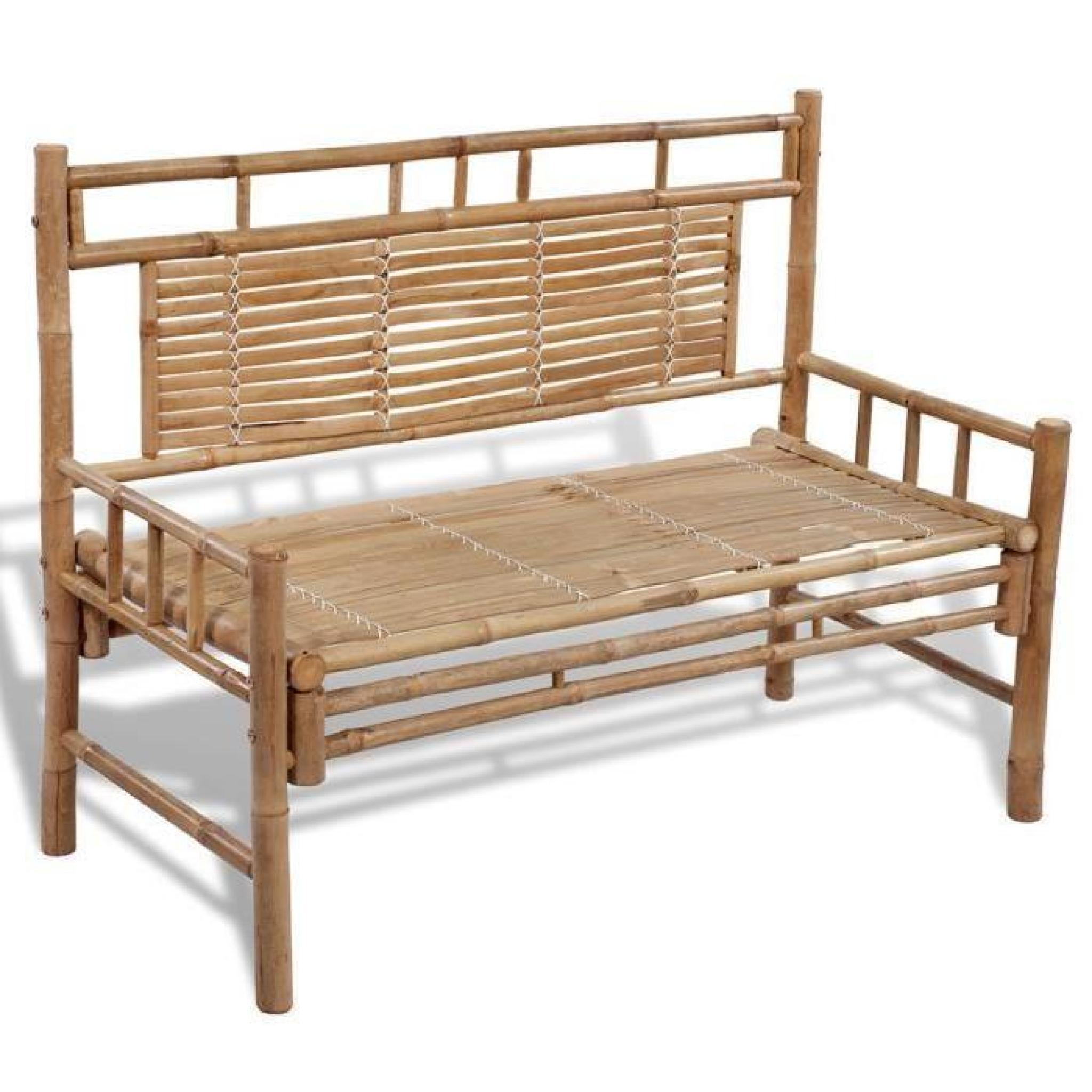 p150 banc en bambou avec dossier achat vente banc de jardin en bois pas cher. Black Bedroom Furniture Sets. Home Design Ideas