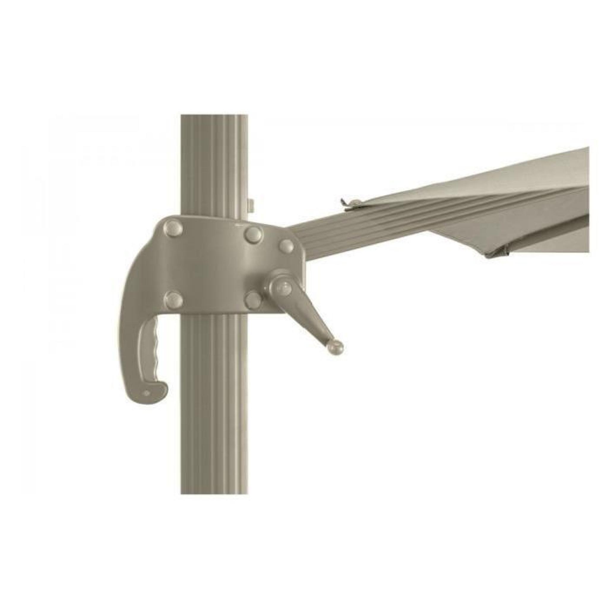 parasol decentre fresno 3x4m taupe hesperide achat vente parasol rectangulaire pas cher. Black Bedroom Furniture Sets. Home Design Ideas
