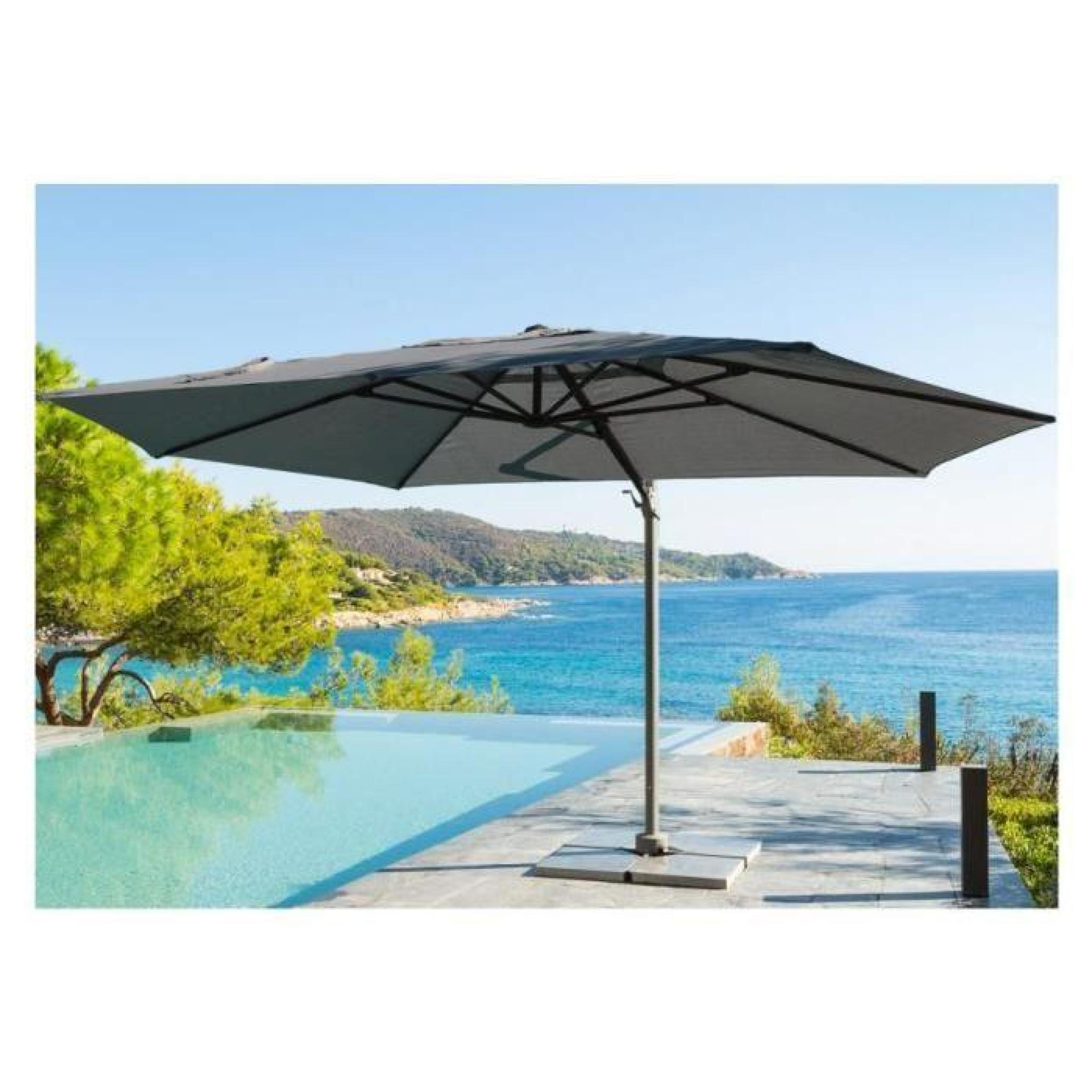 parasol decentre hesperide elea 3x4 2m gris achat vente parasol deporte pas cher. Black Bedroom Furniture Sets. Home Design Ideas