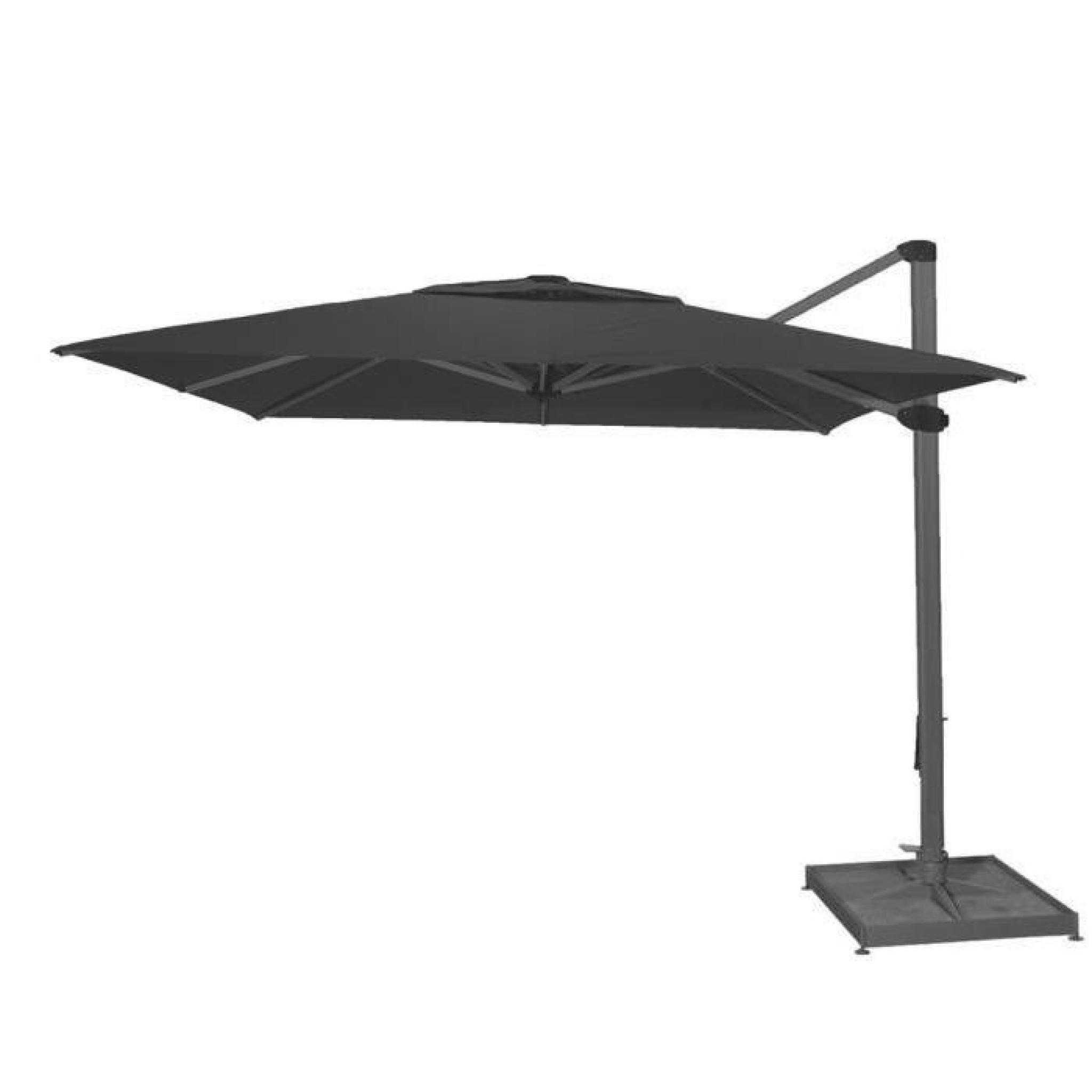 Parasol Decentre Palestro Gris Anthracite Anti Uv Inclinable Carre