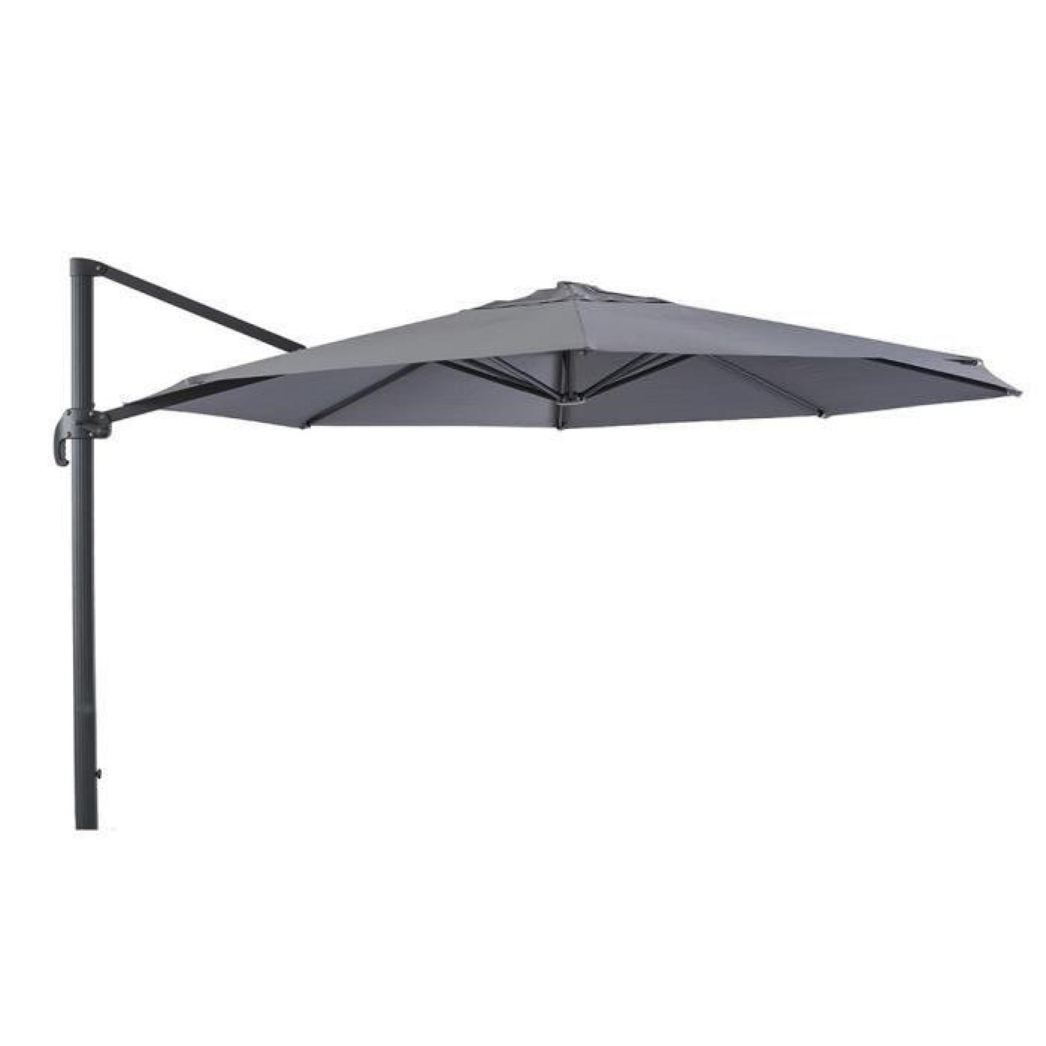parasol d port ardoise en aluminium et polyester 4 x 2 90 m achat vente parasol deporte pas. Black Bedroom Furniture Sets. Home Design Ideas