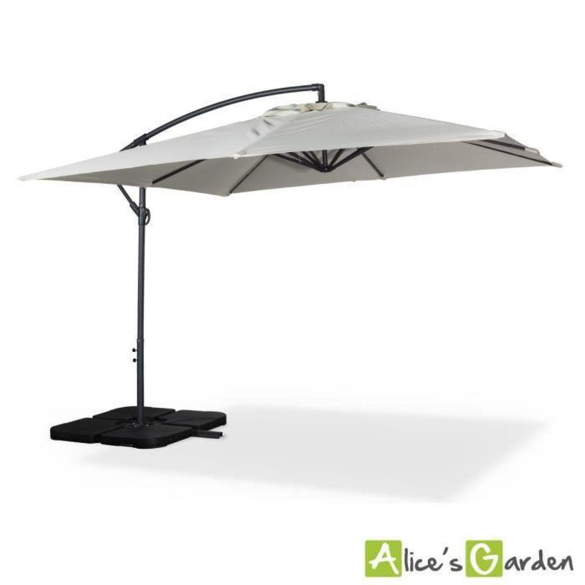 parasol d port carr 3x3m hardelot ecru achat vente parasol deporte pas cher. Black Bedroom Furniture Sets. Home Design Ideas