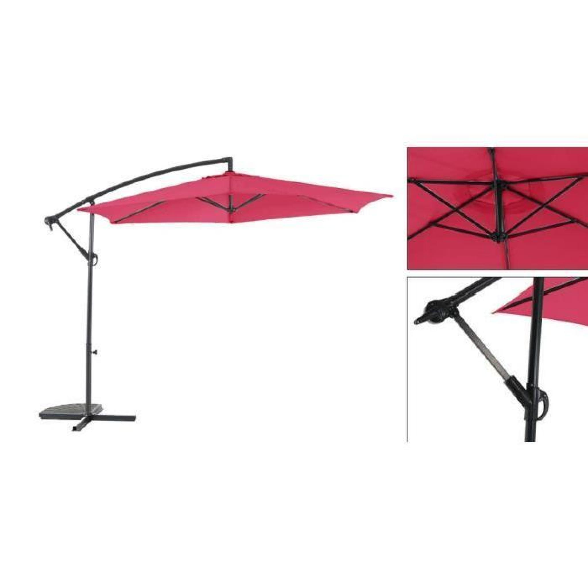 parasol d port guadeloupe 3m framboise achat vente parasol deporte pas cher. Black Bedroom Furniture Sets. Home Design Ideas