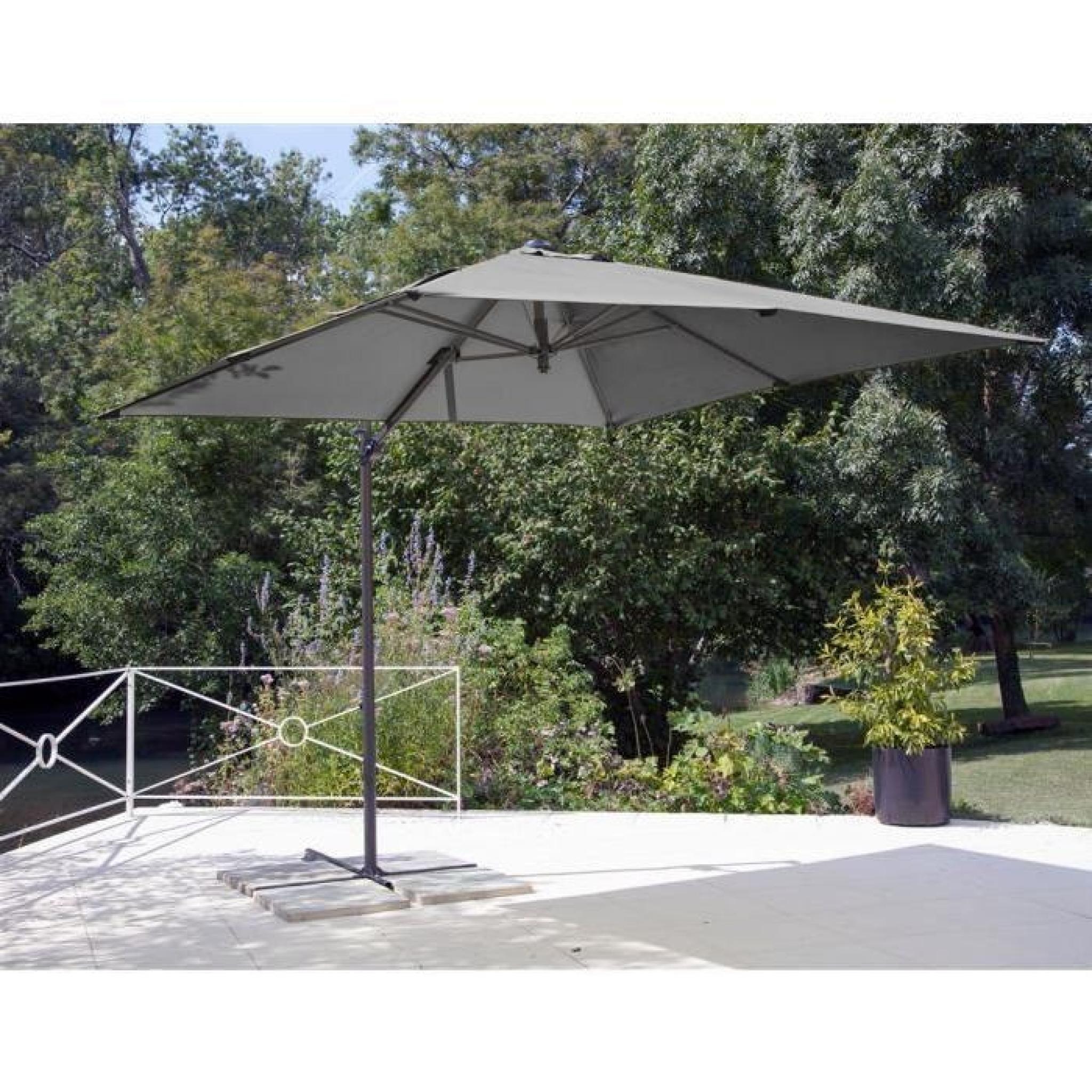 parasol d port roma 2 5x2 5 grey achat vente parasol deporte pas cher. Black Bedroom Furniture Sets. Home Design Ideas