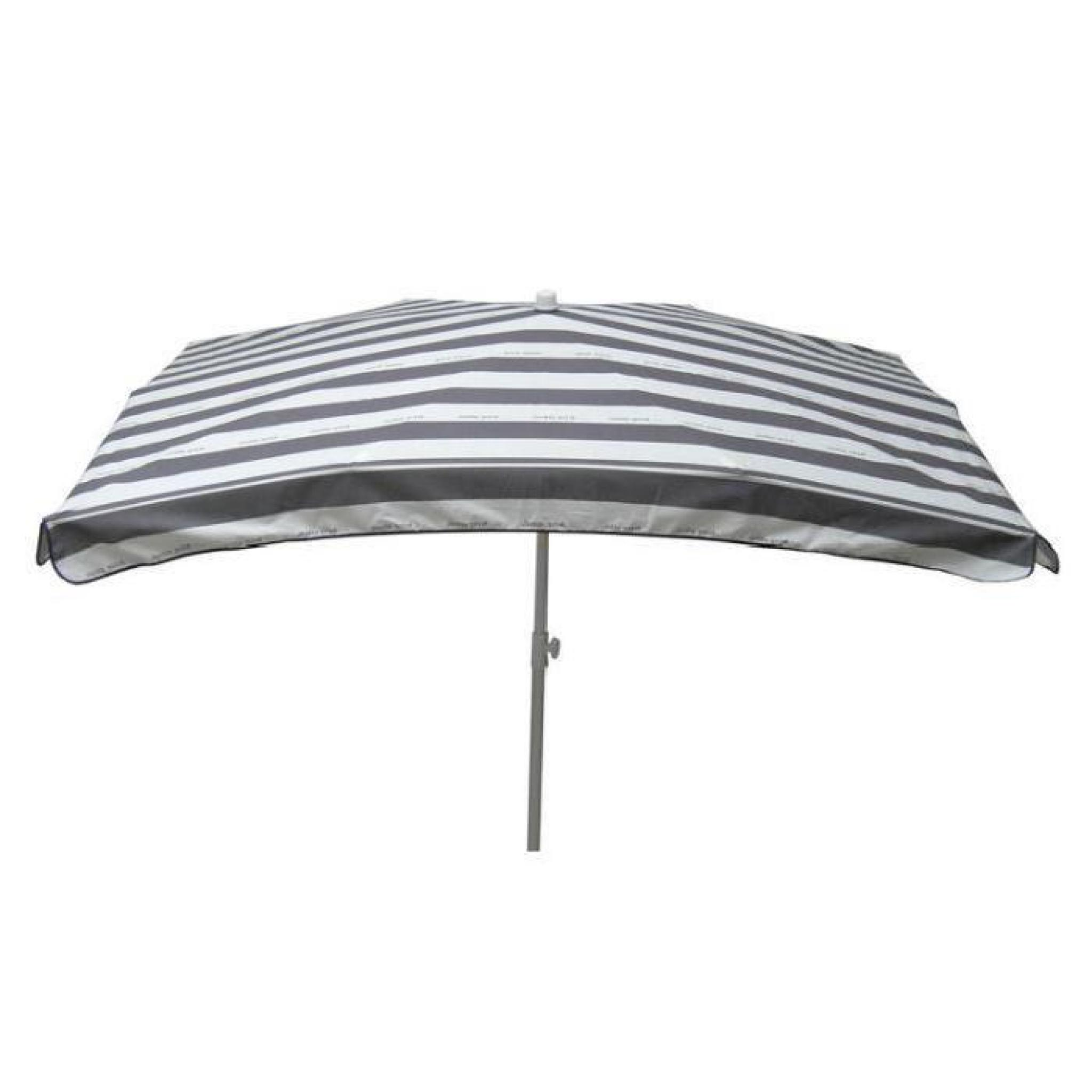 parasol droit rectangle 200 x 140 cm ray cancale gris achat vente parasol inclinable pas. Black Bedroom Furniture Sets. Home Design Ideas