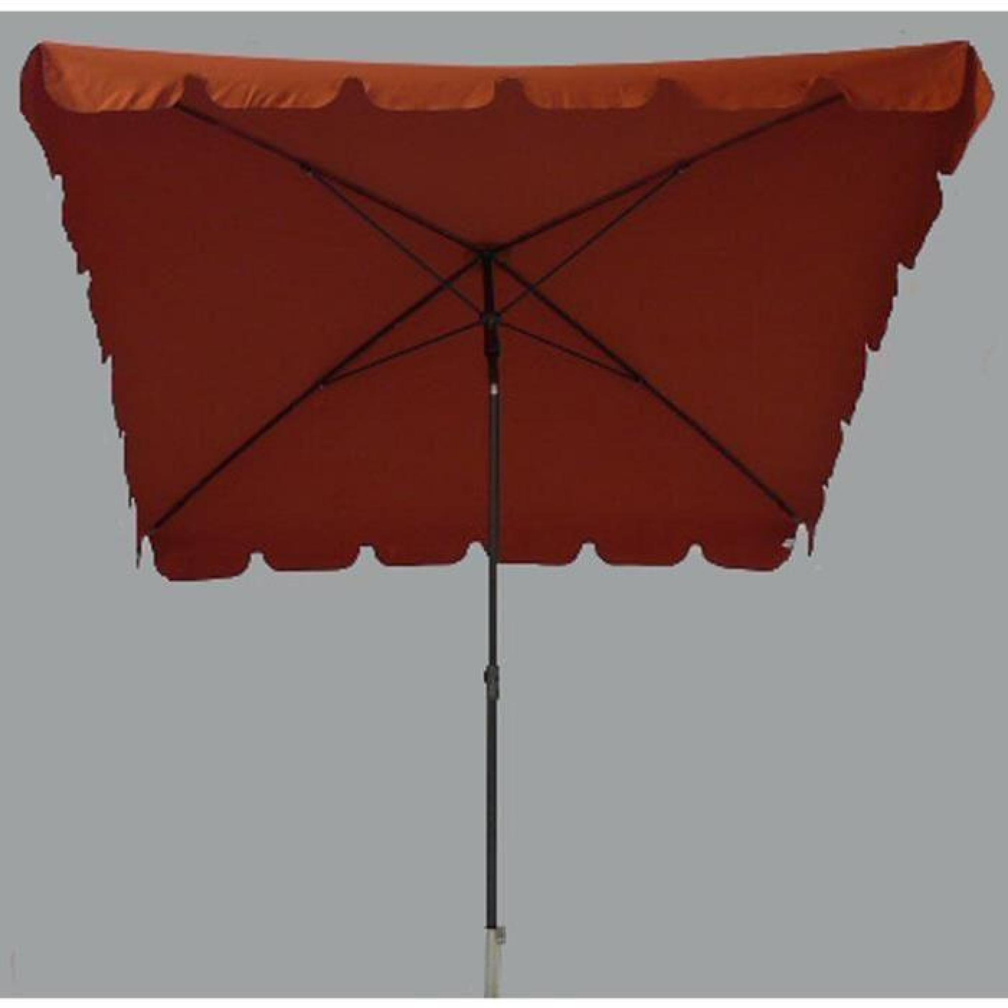 parasol rectangulaire terracotta