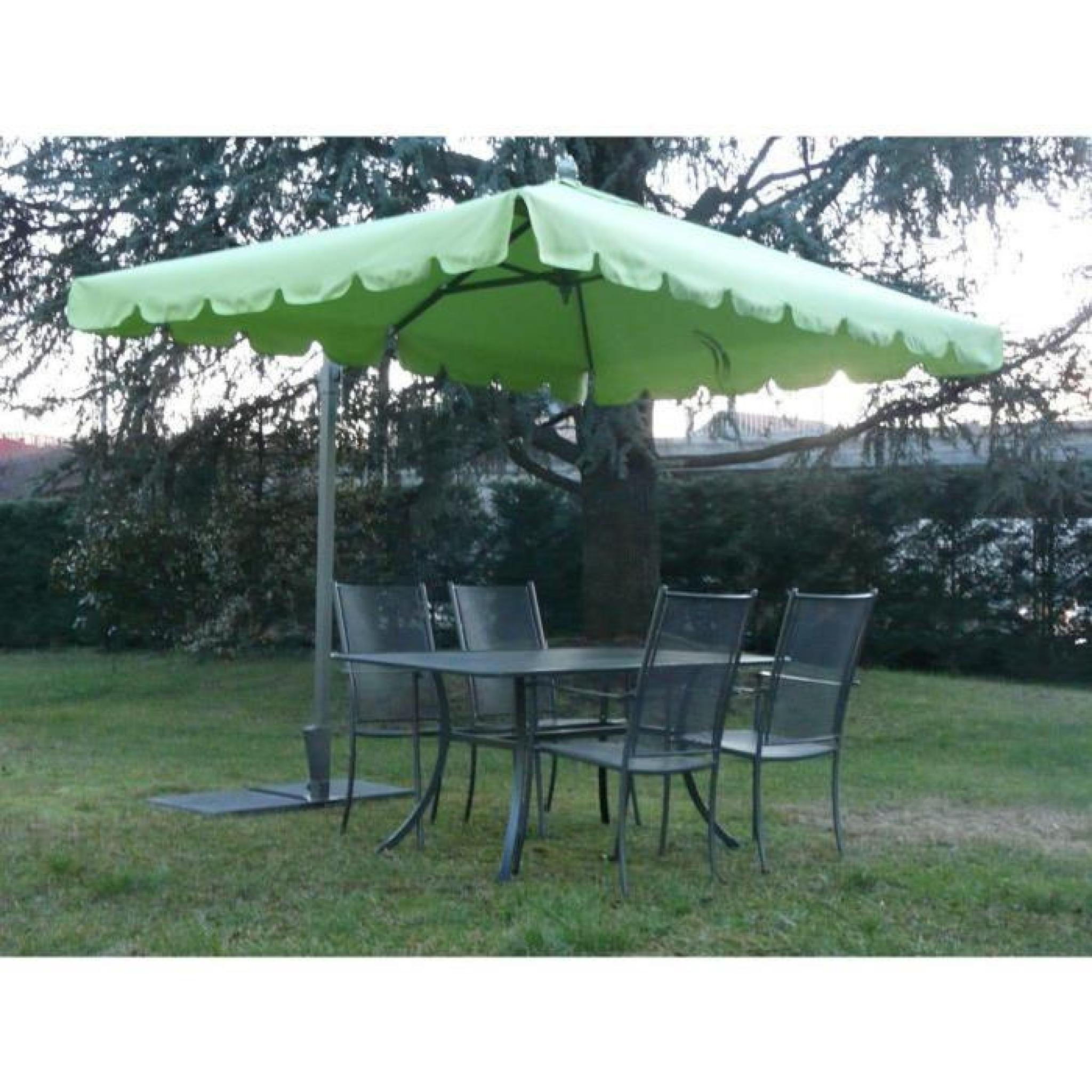 parasol rectangulaire d port coloris anis dim h 190. Black Bedroom Furniture Sets. Home Design Ideas