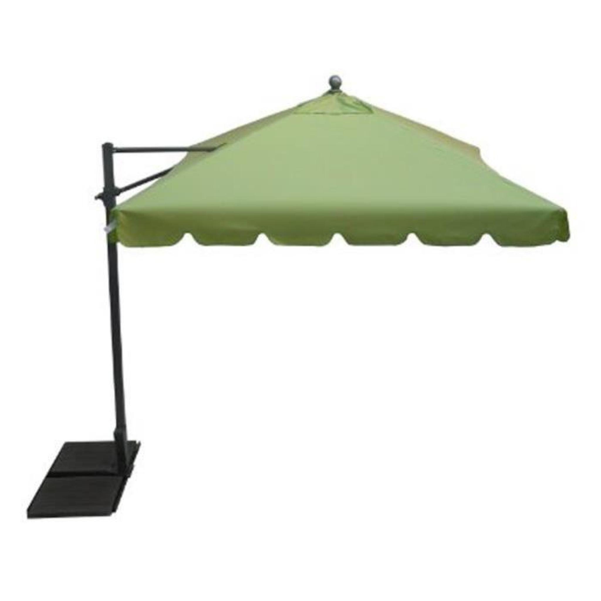 parasol rectangulaire d port coloris anis dim h 250 x. Black Bedroom Furniture Sets. Home Design Ideas