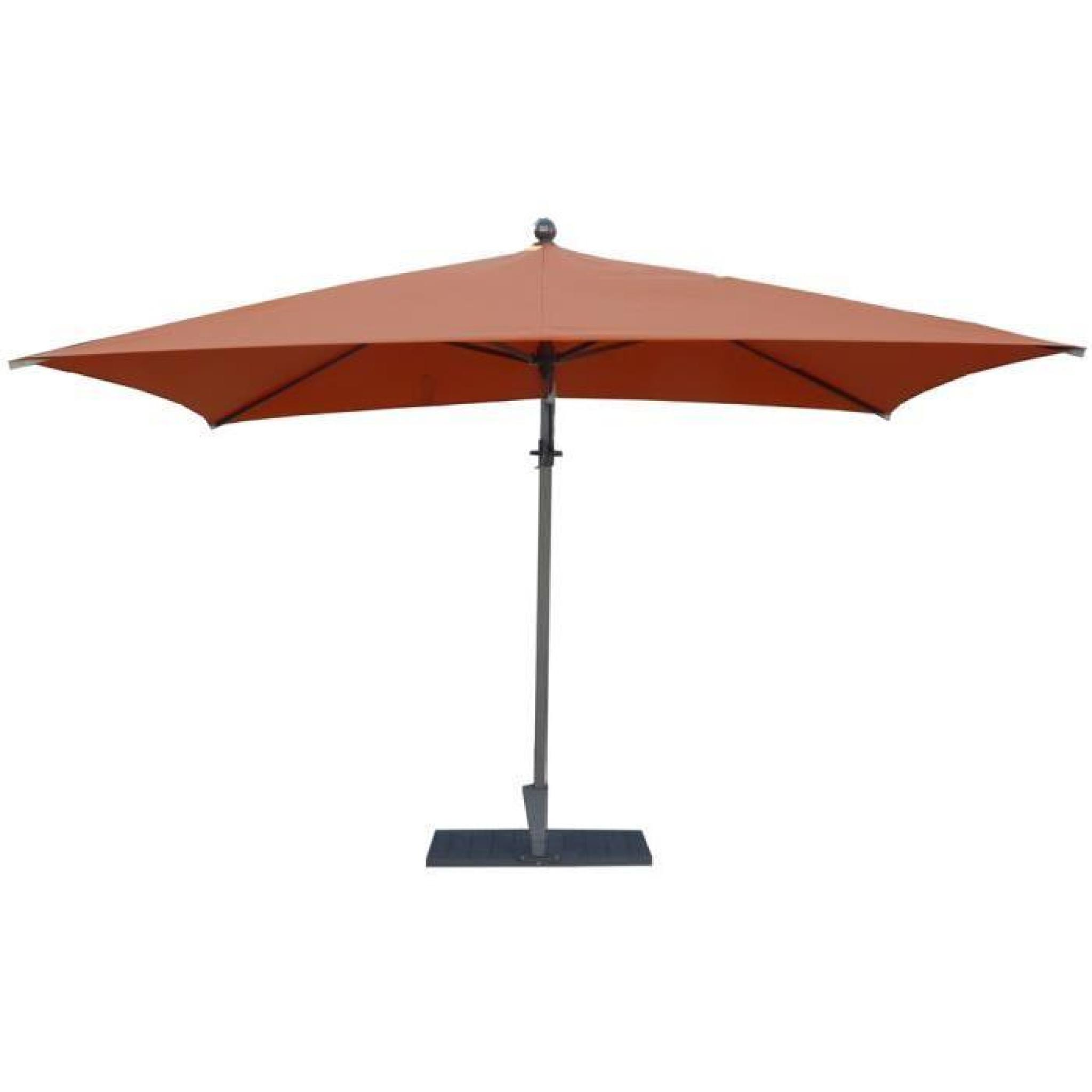 Parasol rectangulaire déporté coloris orange   Dim : H 250 x D 300
