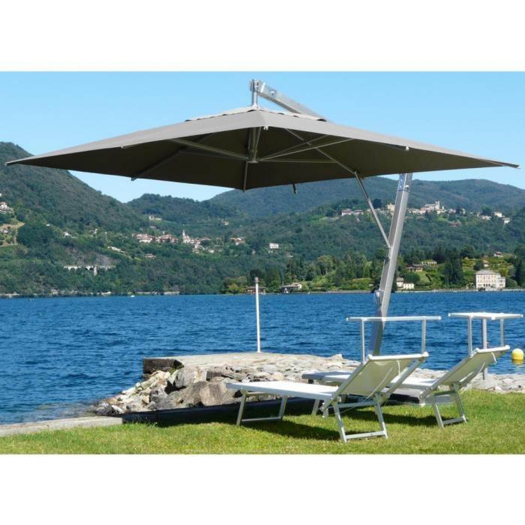 parasol rectangulaire d port coloris taupe h 340cm x d 300 x 400 8 baleines achat vente. Black Bedroom Furniture Sets. Home Design Ideas