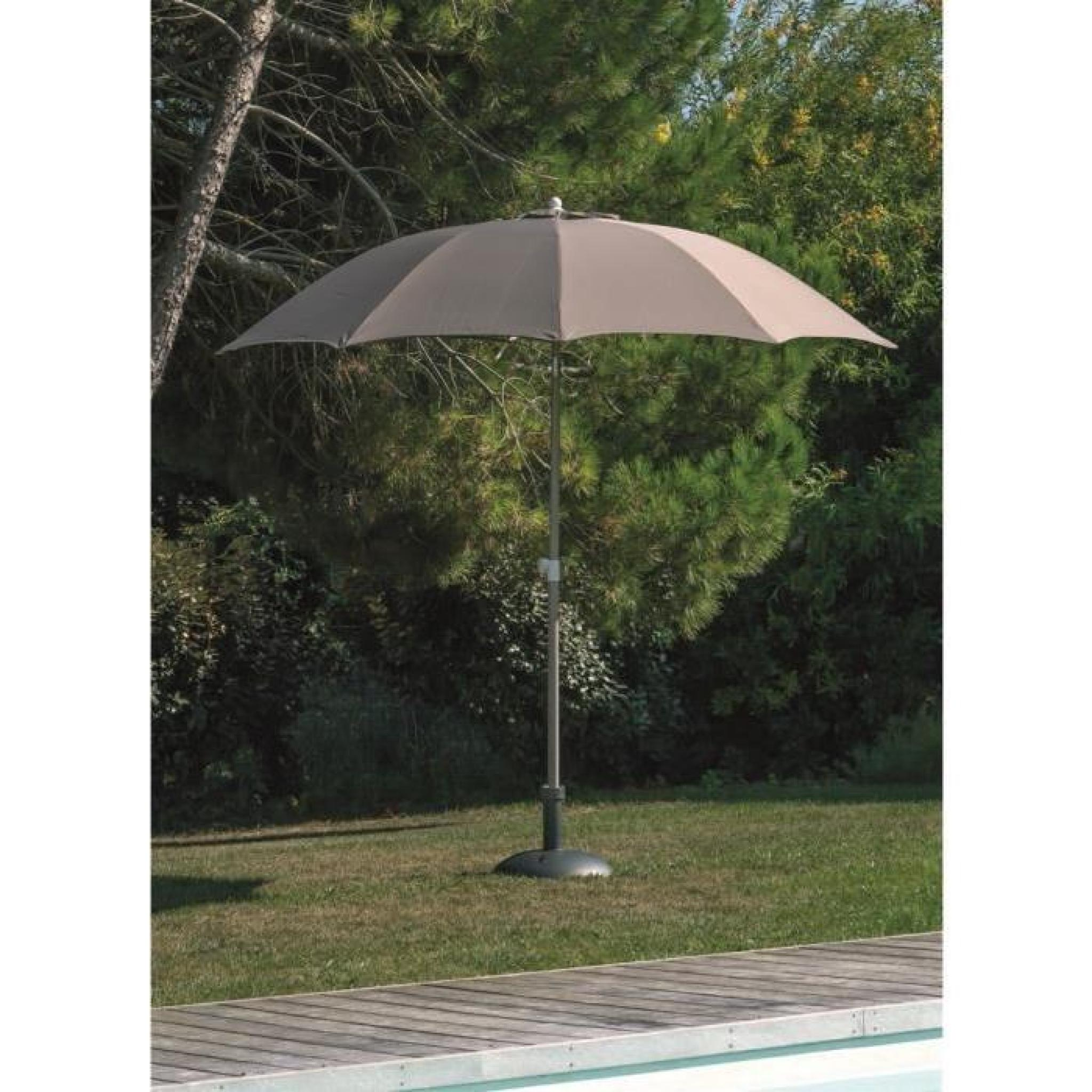 Parasol Fibre De Verre 270 Inclinable Taupe
