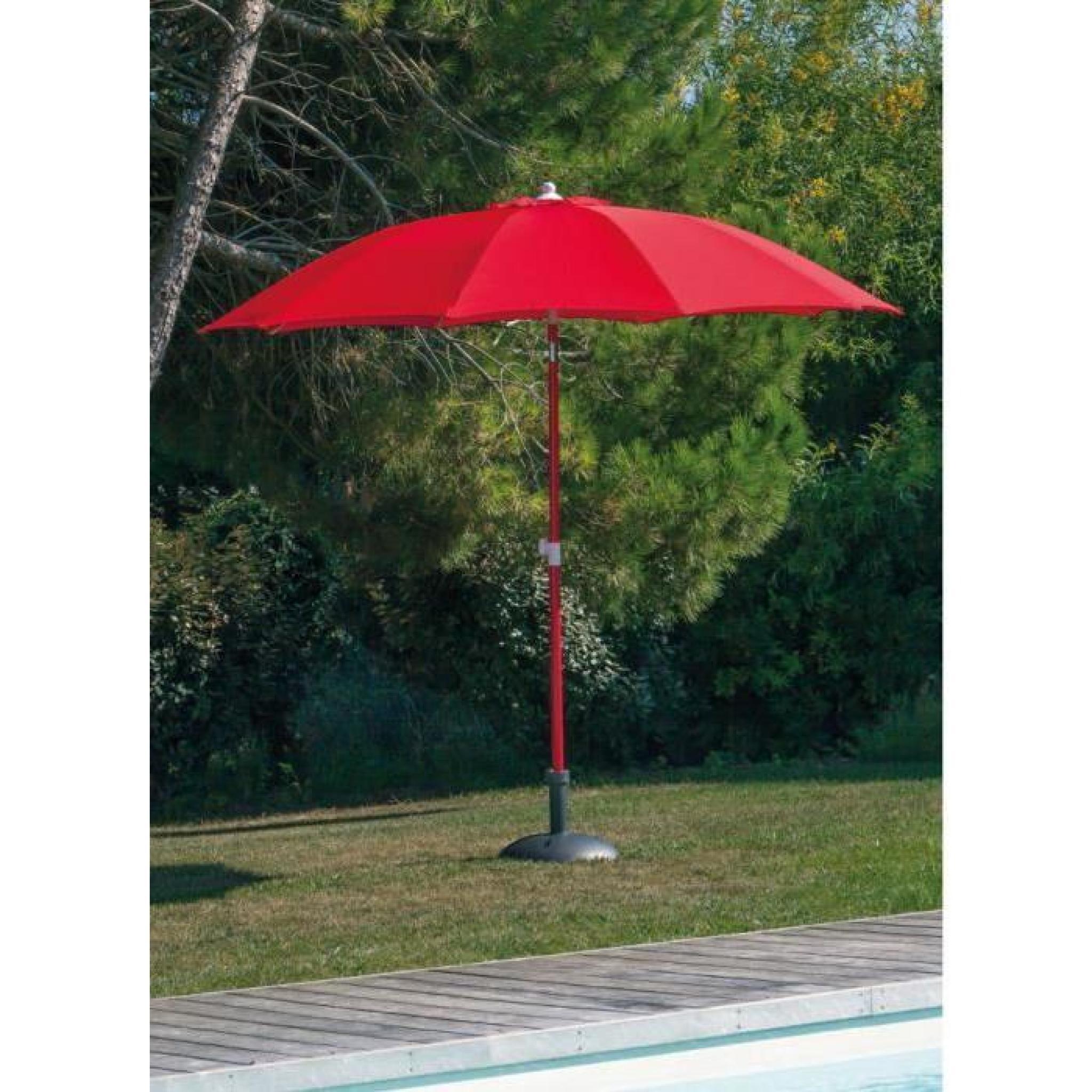 parasol fibre de verre 270 inclinable rouge achat vente. Black Bedroom Furniture Sets. Home Design Ideas