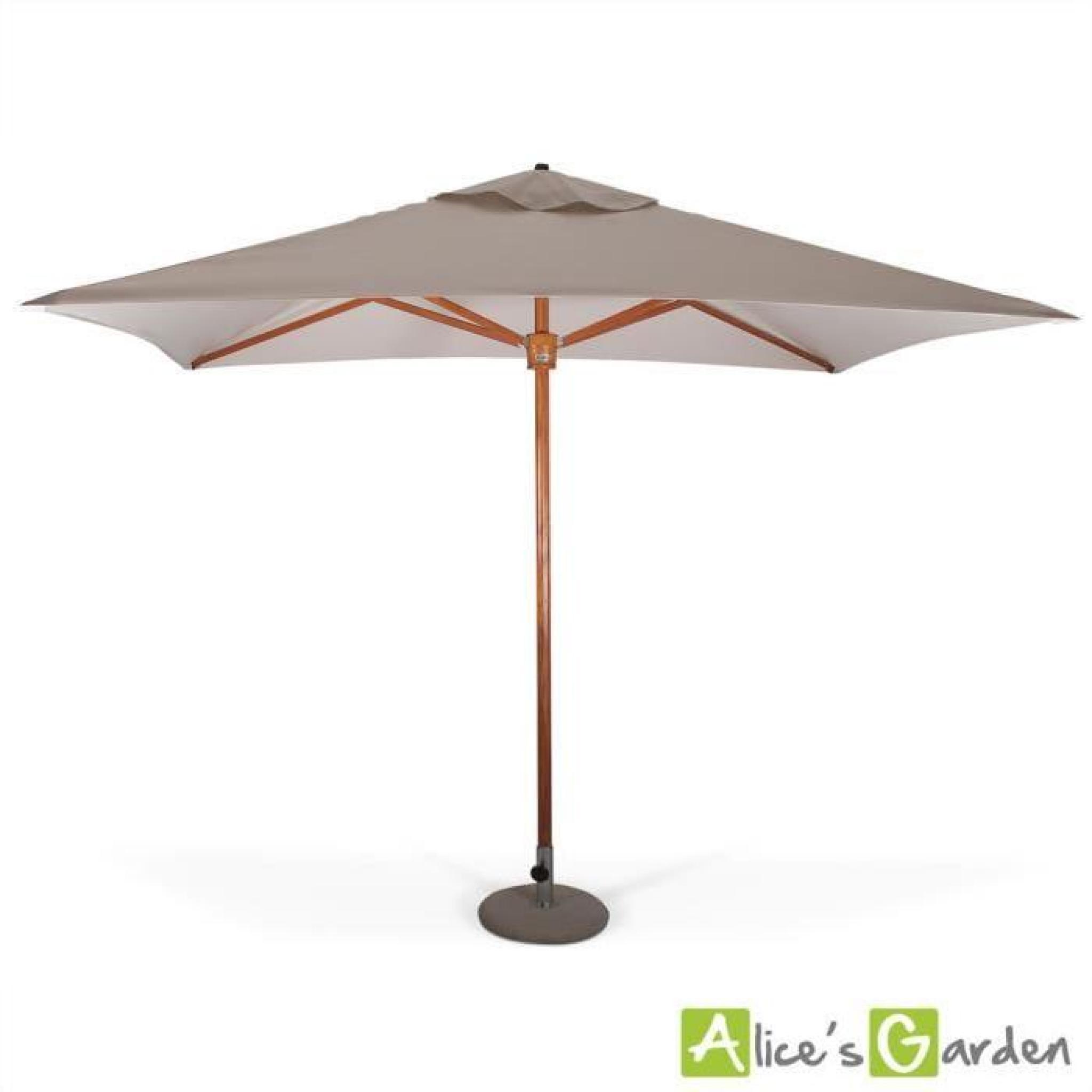parasol tr s haut de gamme rectangulaire tokai 3x2m beige chin m t central tout bois. Black Bedroom Furniture Sets. Home Design Ideas