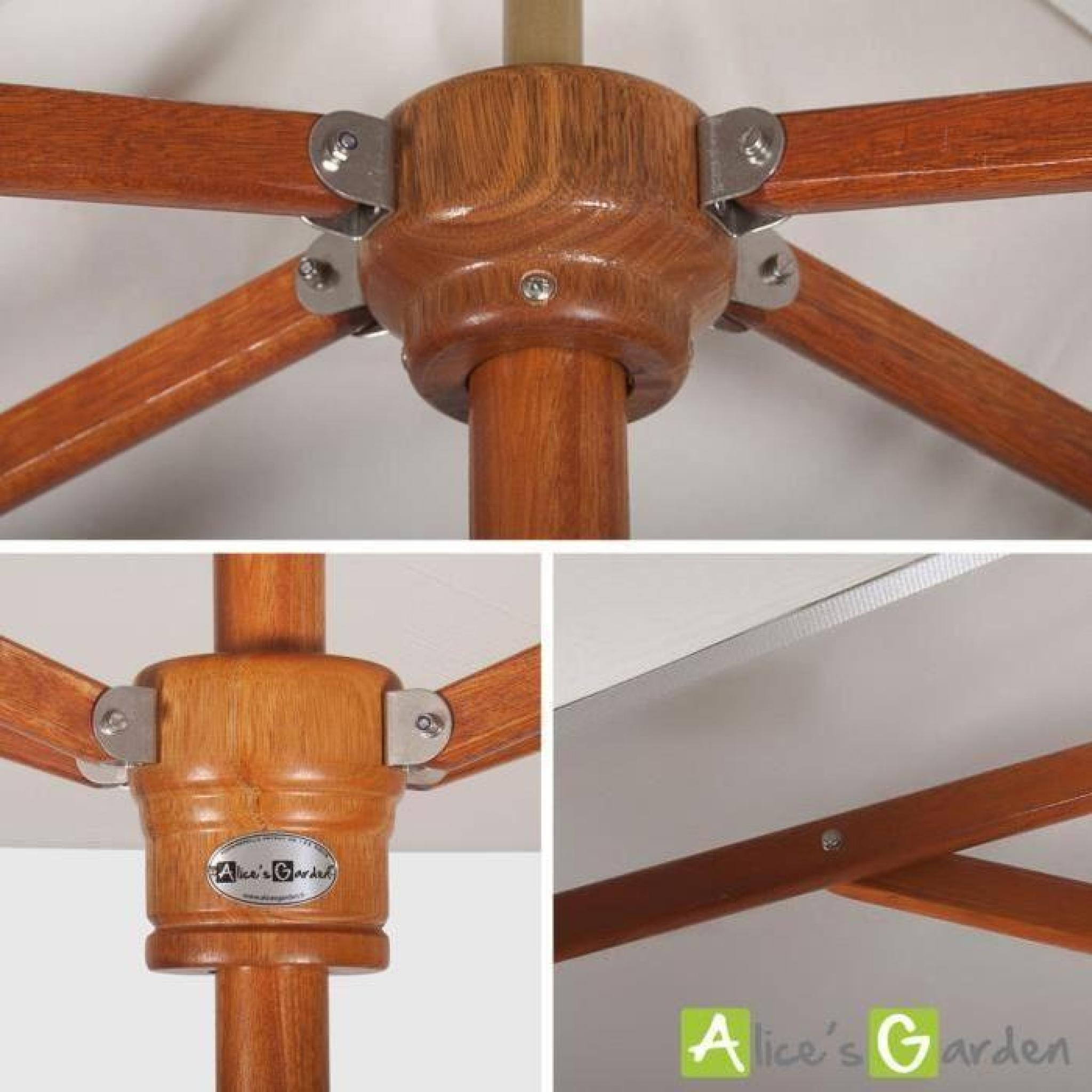 parasol tr s haut de gamme rectangulaire tokai 3x2m beige. Black Bedroom Furniture Sets. Home Design Ideas