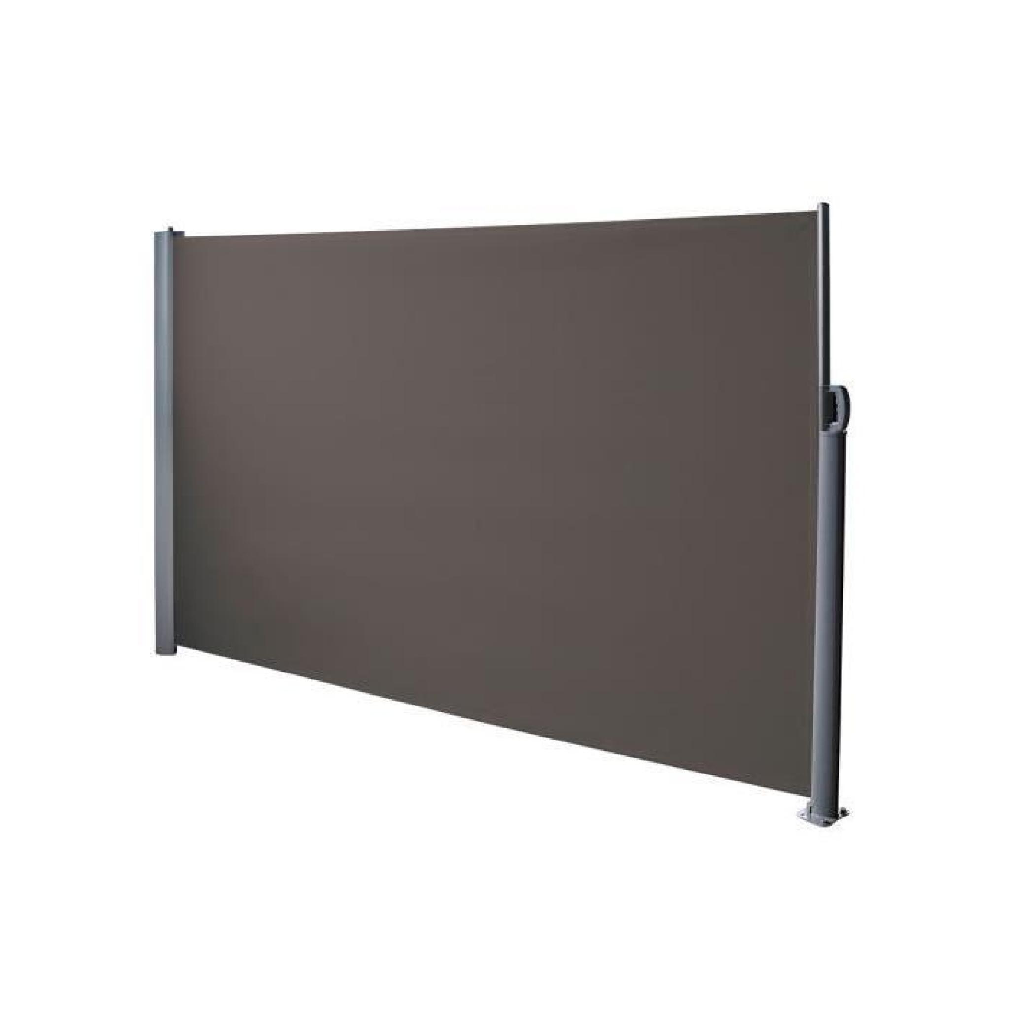 paravent retractable anthracite 3x1 8m achat vente paravent de jardin pas cher. Black Bedroom Furniture Sets. Home Design Ideas