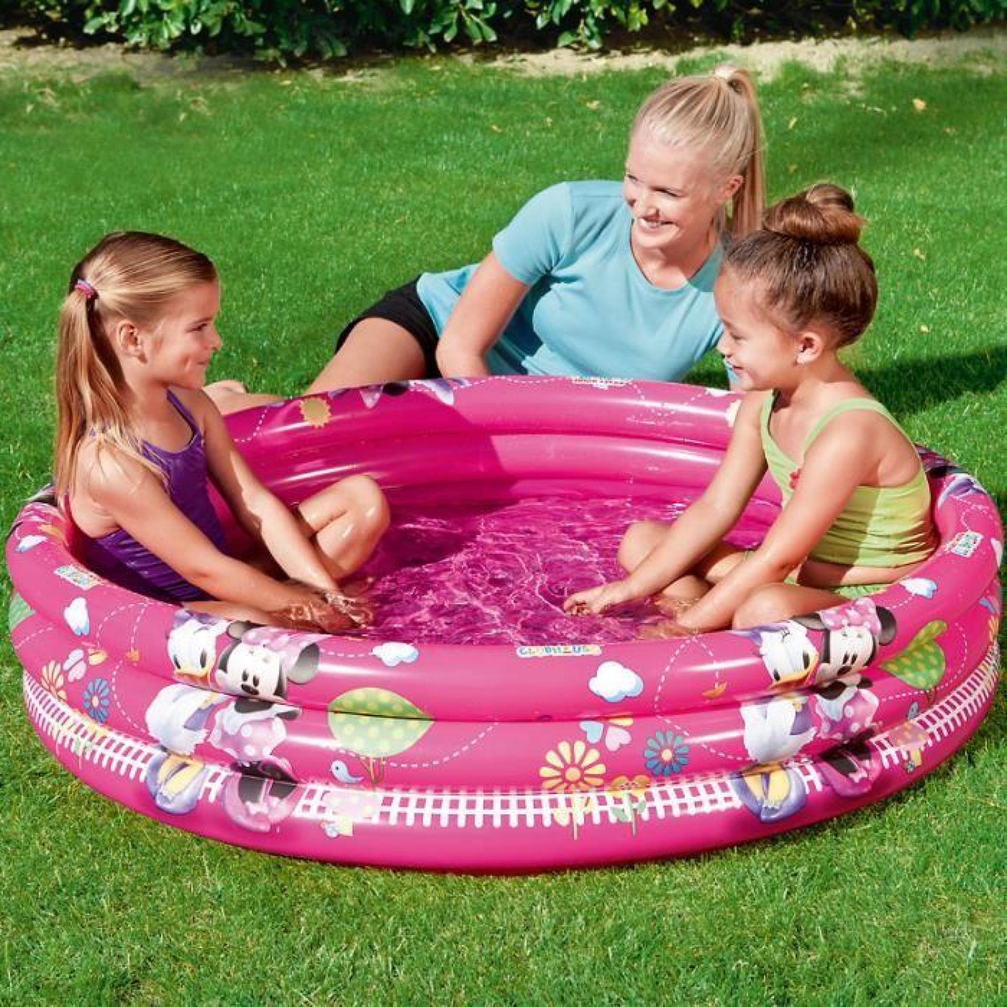 pataugeoire disney bestway piscine enfant rose achat. Black Bedroom Furniture Sets. Home Design Ideas