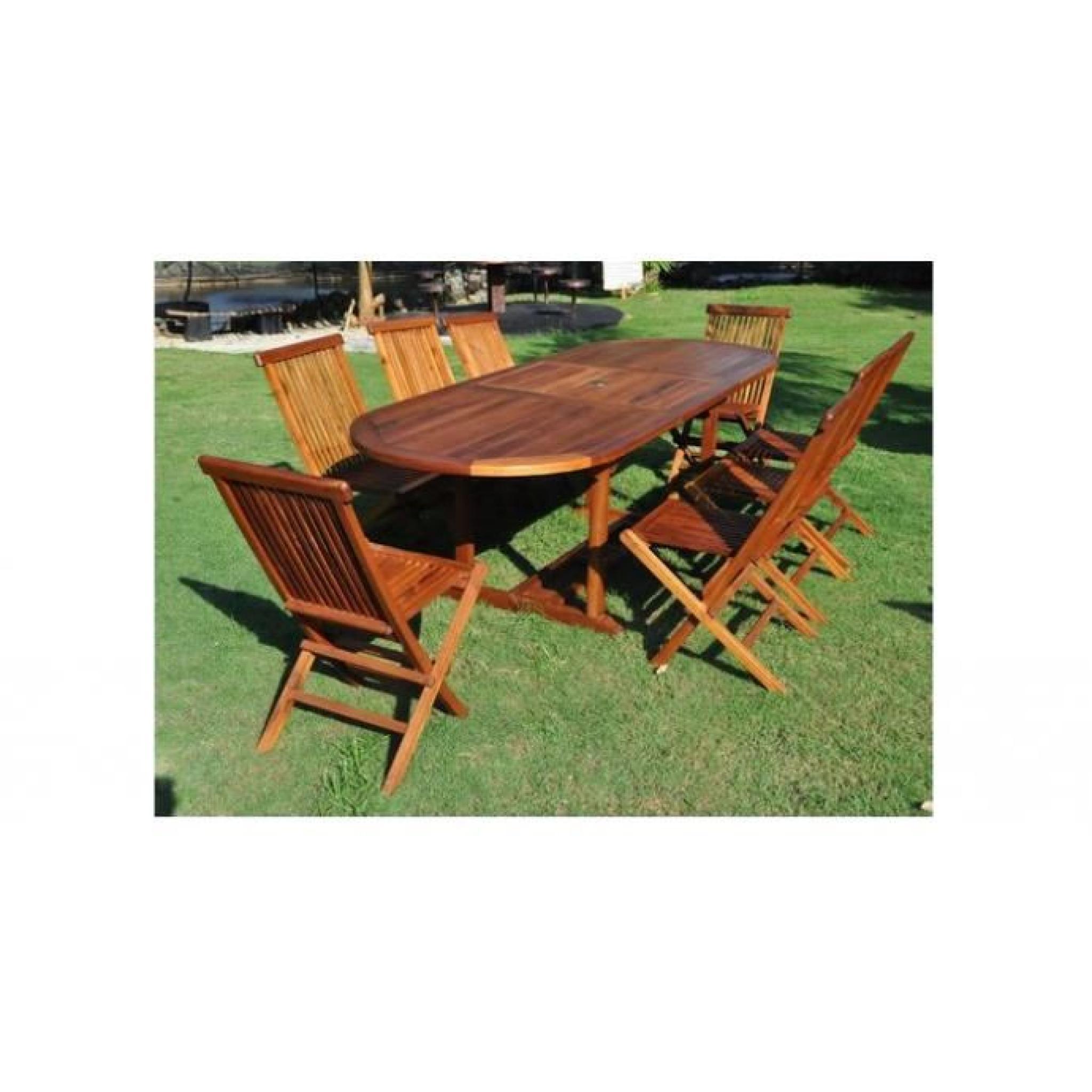 patna salon de jardin teck huil 10 12 pers achat vente salon de jardin en bois pas cher. Black Bedroom Furniture Sets. Home Design Ideas