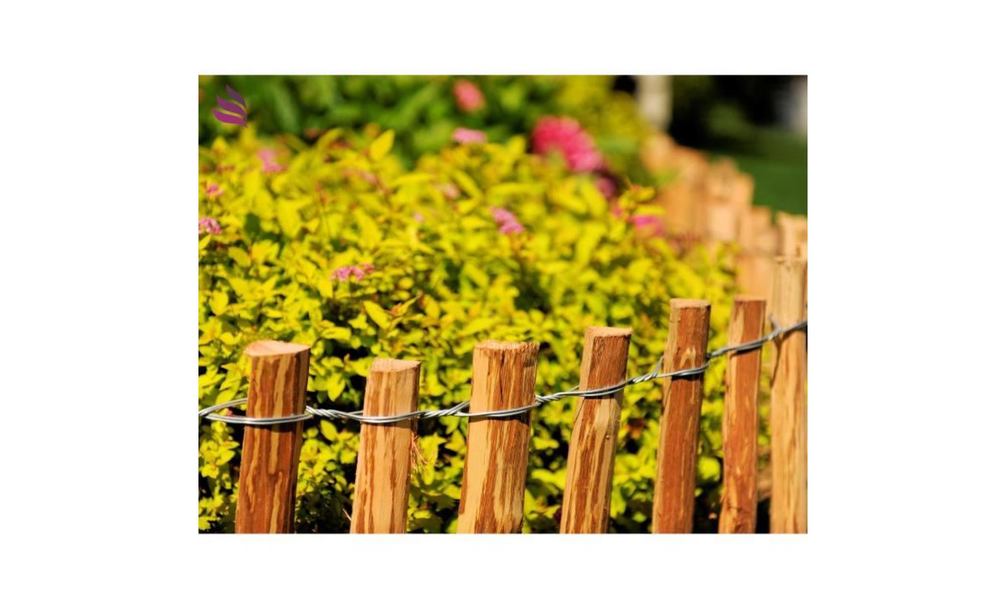 piquets en bois cl ture lattis en bois de noisetier impr gn cl ture de jardin cl ture. Black Bedroom Furniture Sets. Home Design Ideas