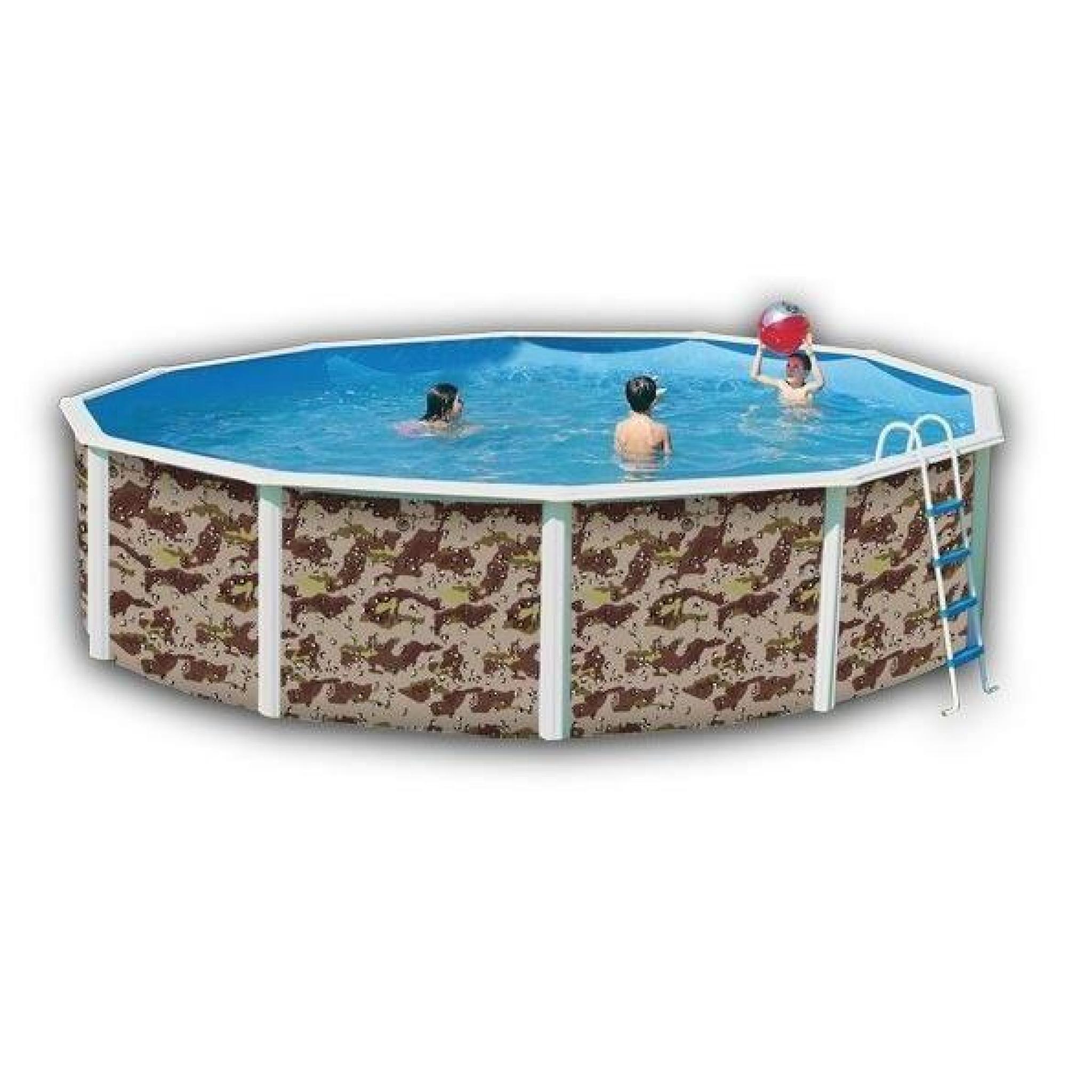 Camouflage piscine en acier circulaire 350x120 achat - Piscine hors sol acier pas cher ...