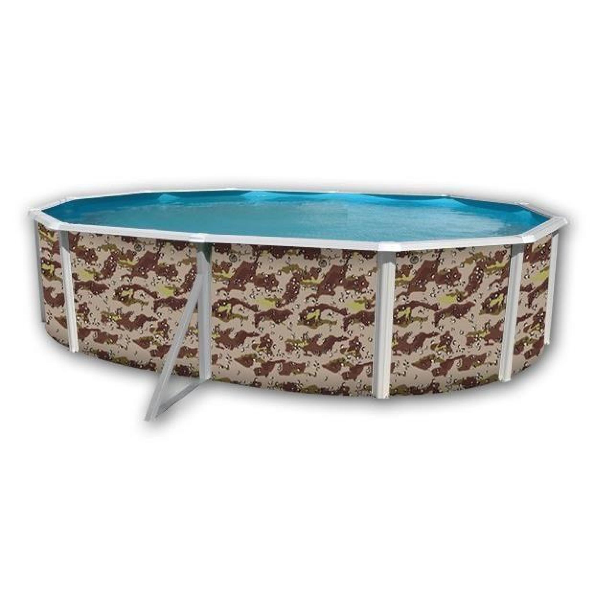 Camouflage piscine en acier ovale 550x366x120 achat - Piscine hors sol acier pas cher ...