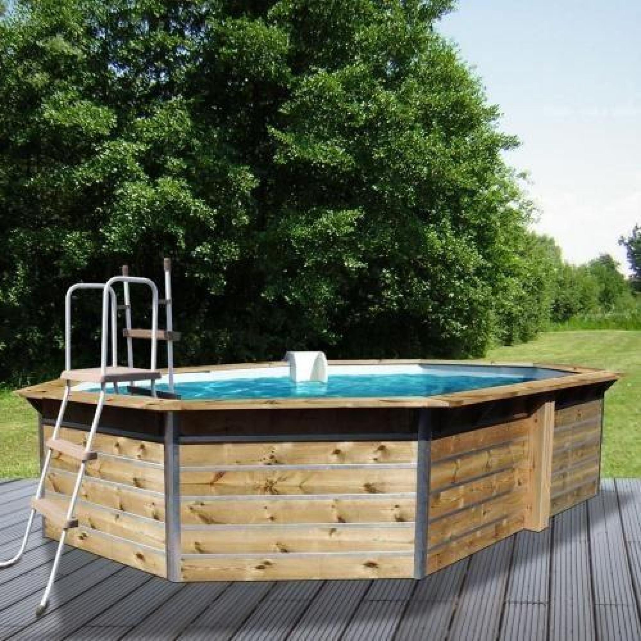 piscine bois hexagonale waterclip 530 x 370 x 1 achat. Black Bedroom Furniture Sets. Home Design Ideas