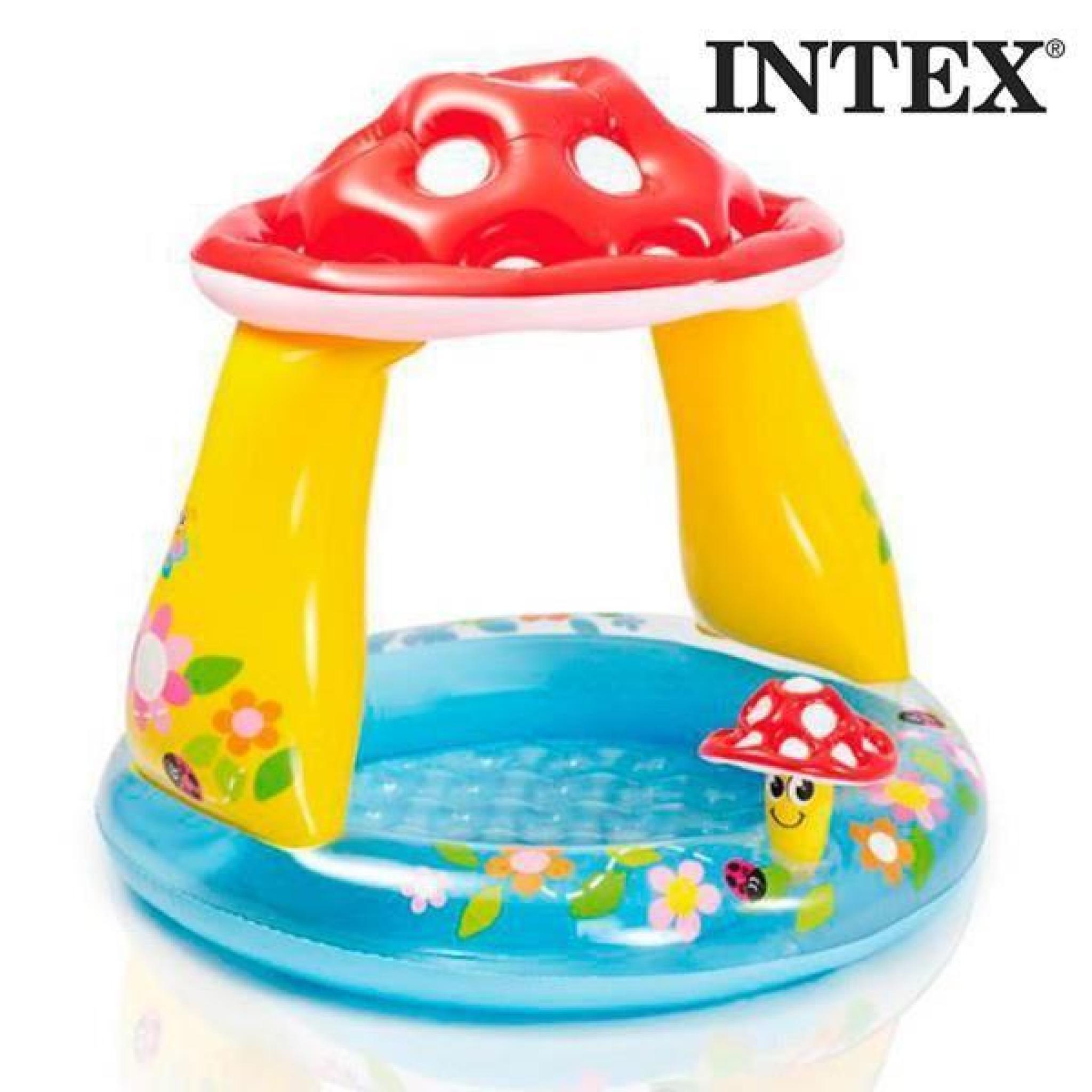piscine gonflable avec parasol champignon intex achat. Black Bedroom Furniture Sets. Home Design Ideas