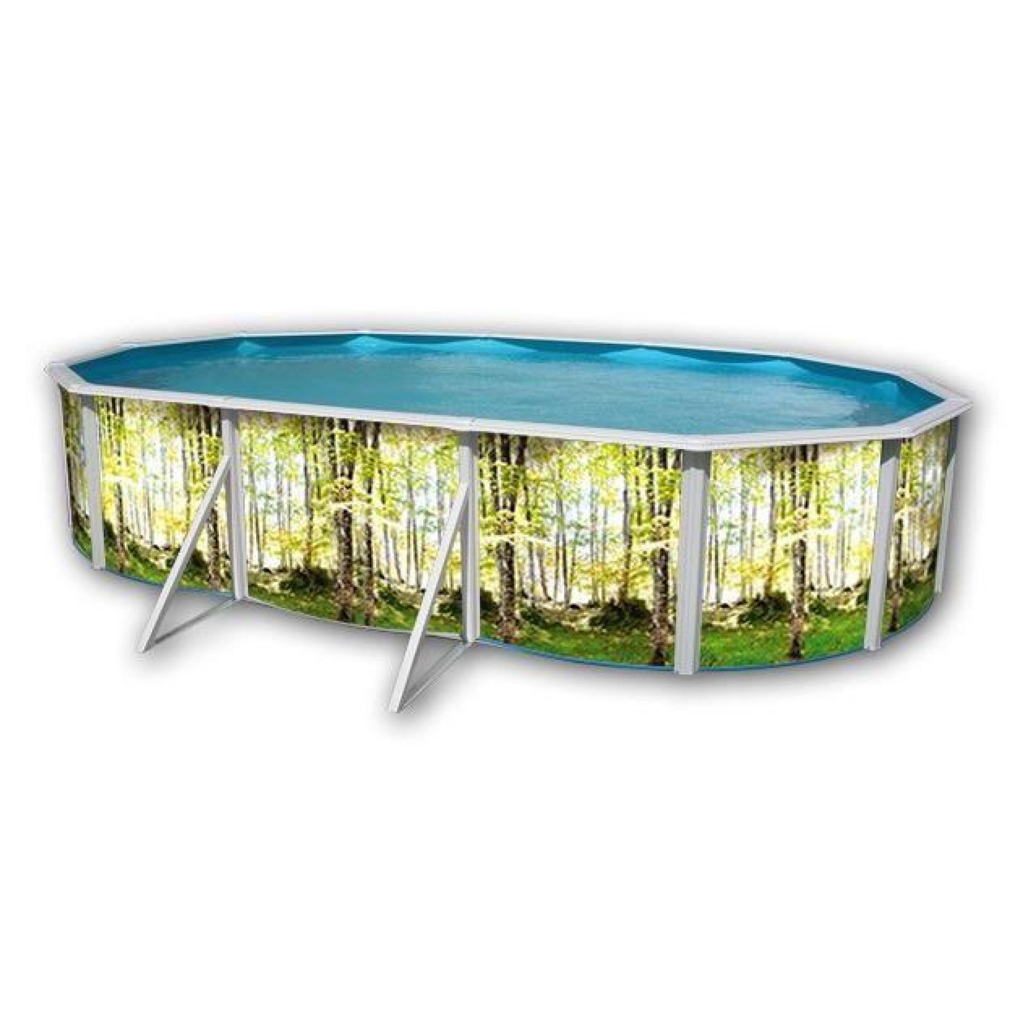 For t piscine en acier ovale 550x366x120 achat vente for Piscine en acier hors sol pas cher