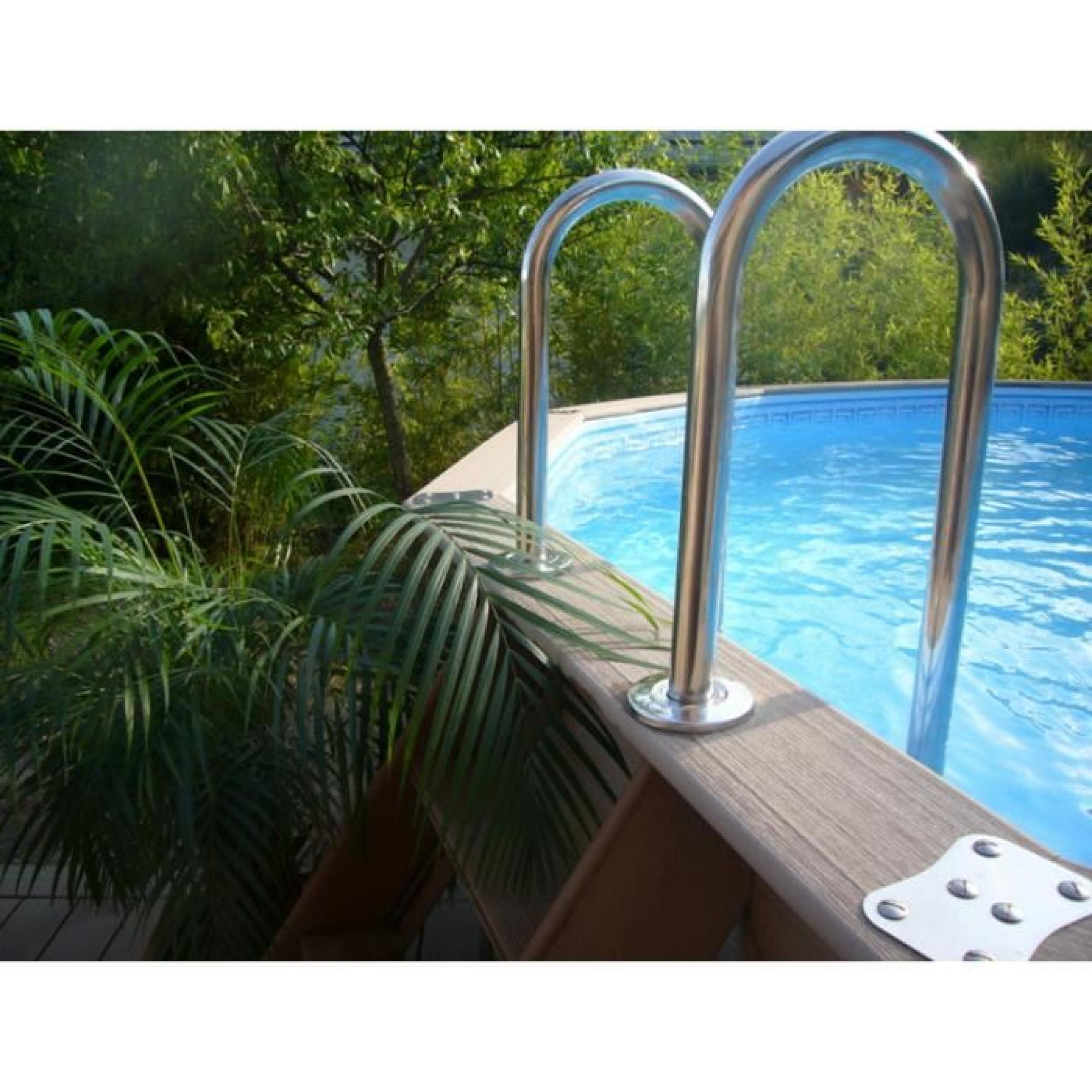 Piscine ronde new bounty en bois composite diam tre for Piscine 3m de diametre