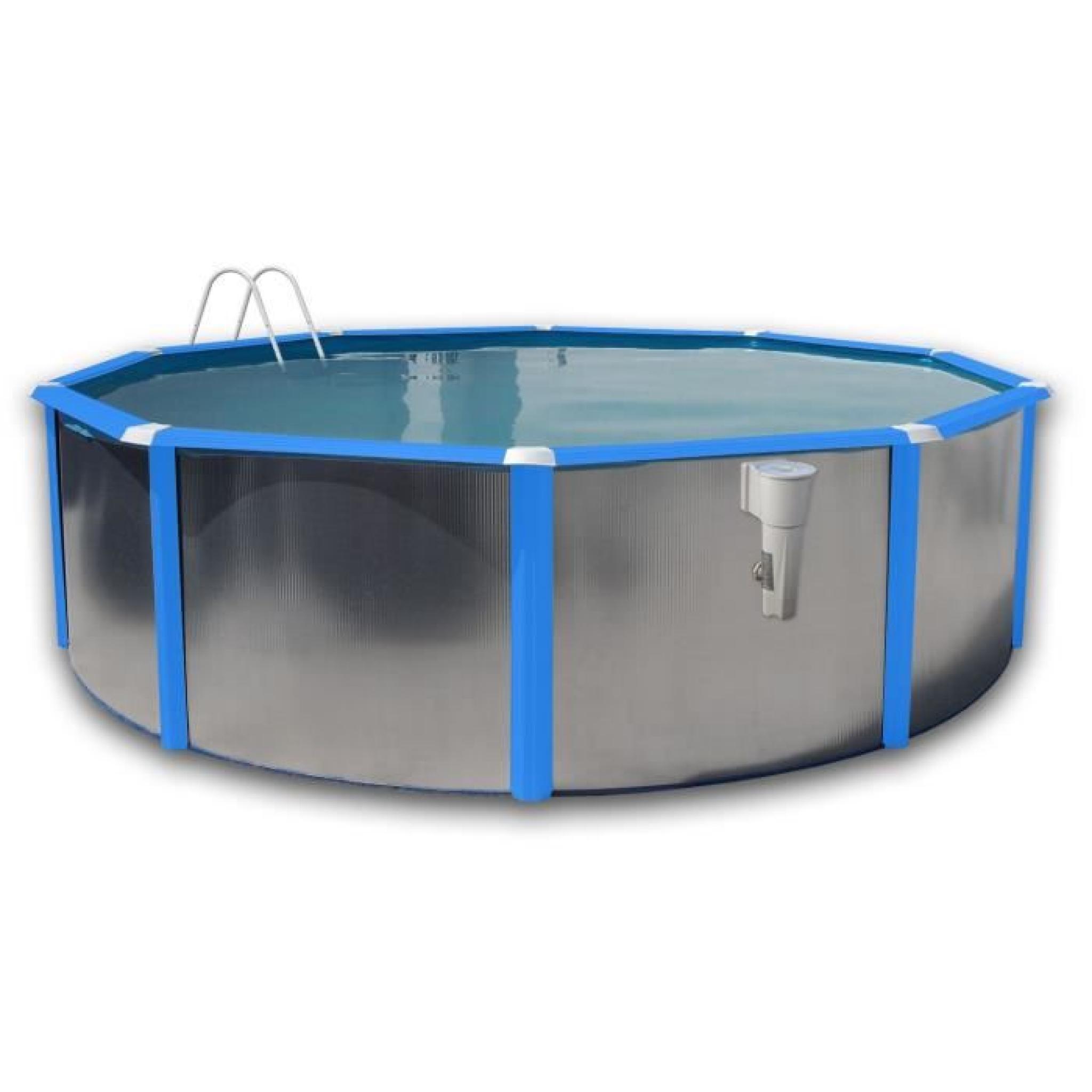 Silver luna noire piscine en acier circulaire 350x120 - Piscine hors sol acier pas cher ...