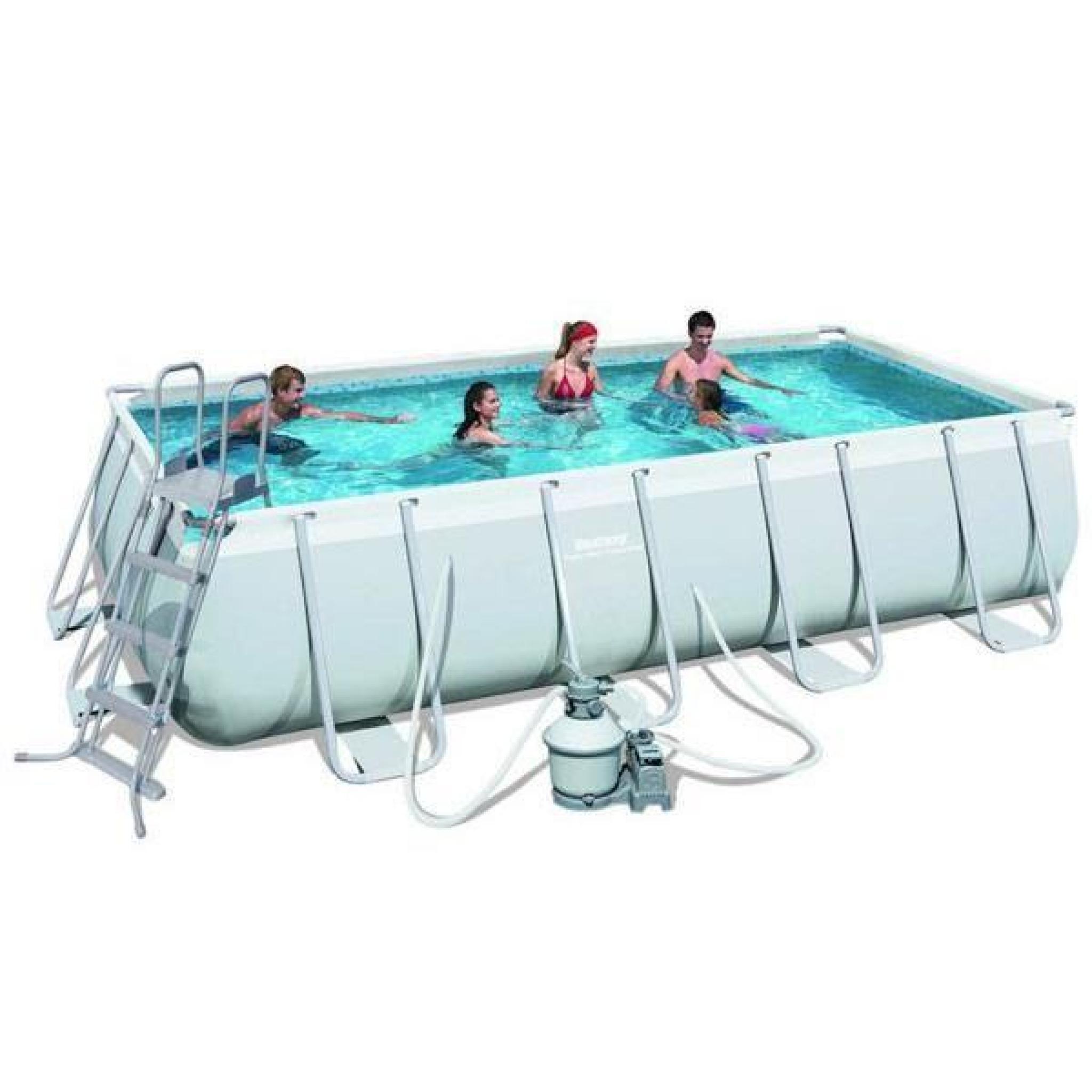 piscine tubulaire rectangulaire bestway 4 88 x 2 74 x 1 22. Black Bedroom Furniture Sets. Home Design Ideas