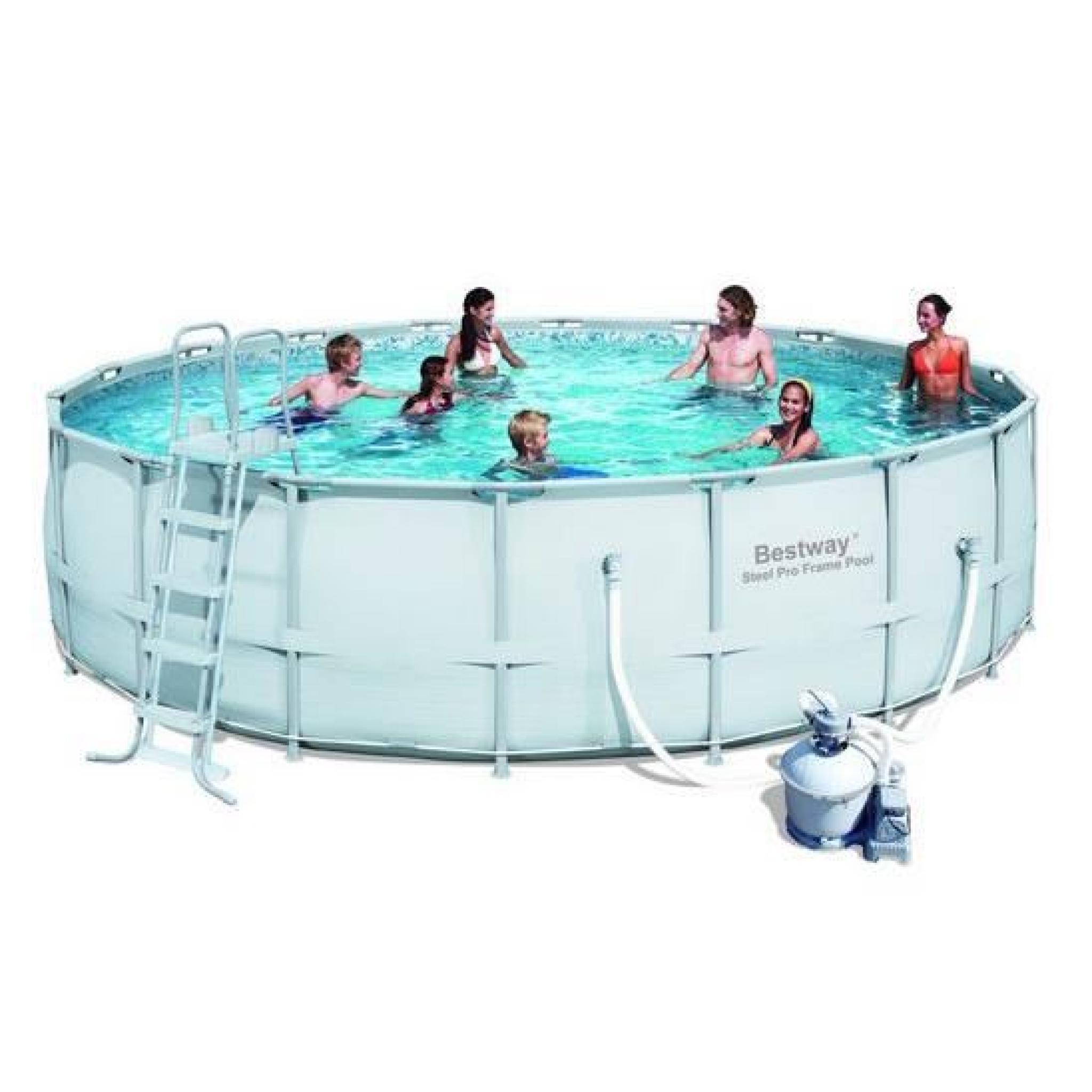 piscine tubulaire ronde power steel frame pool 549 x 132. Black Bedroom Furniture Sets. Home Design Ideas