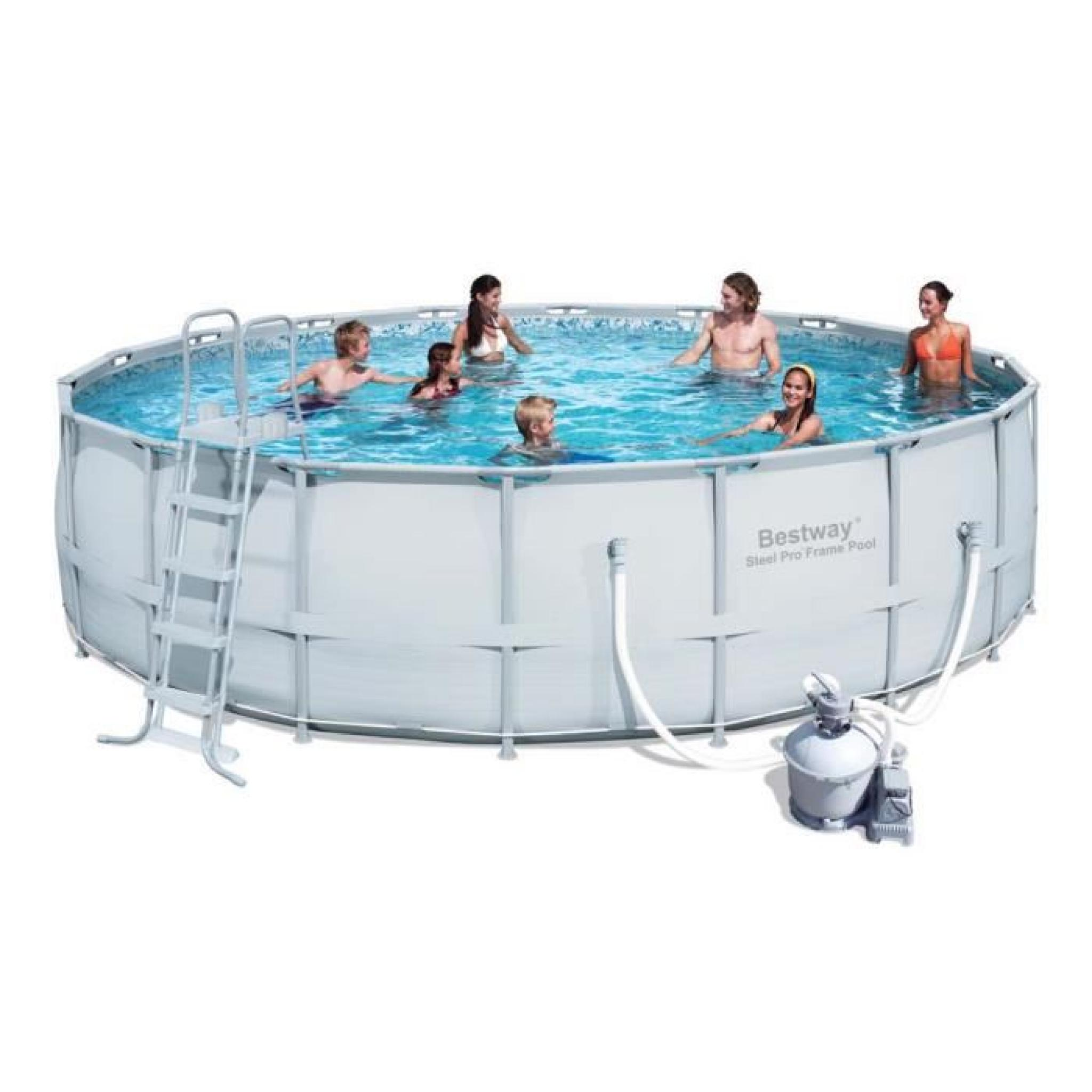 Piscine Tubulaire Ronde Power Steel Frame Pools   5.49 X 1.32 M