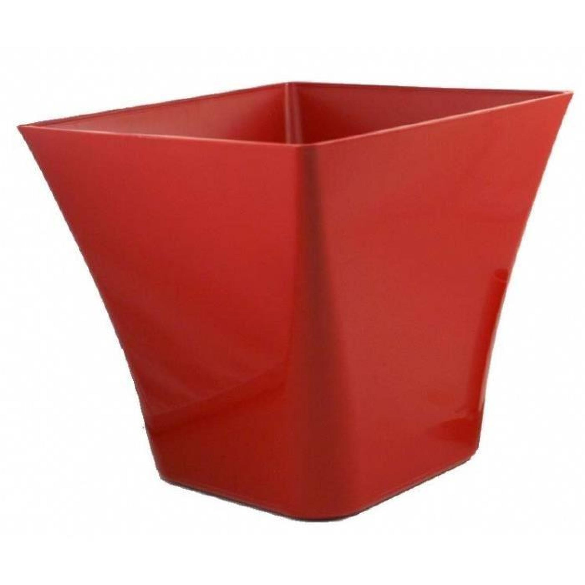 Pot laurea carre 19x19x17 chapelu rouge lot de 2 achat - Carre de jardin pas cher ...