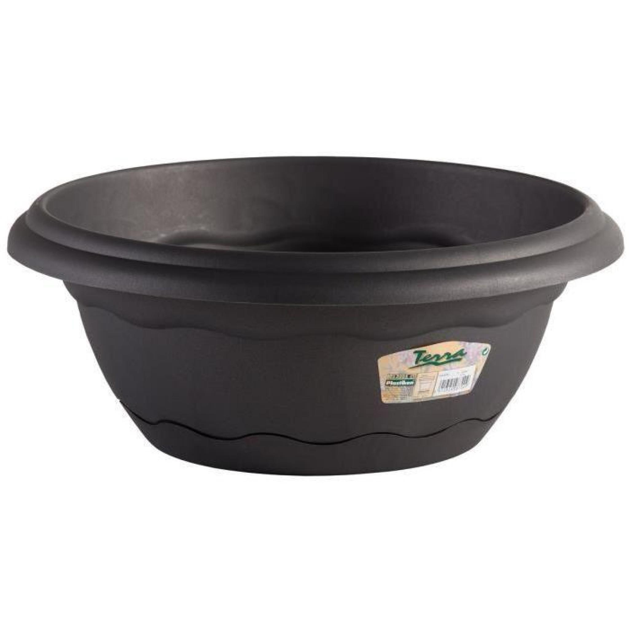 pot rond suspendre 40cm avec soucoupe int gr e. Black Bedroom Furniture Sets. Home Design Ideas