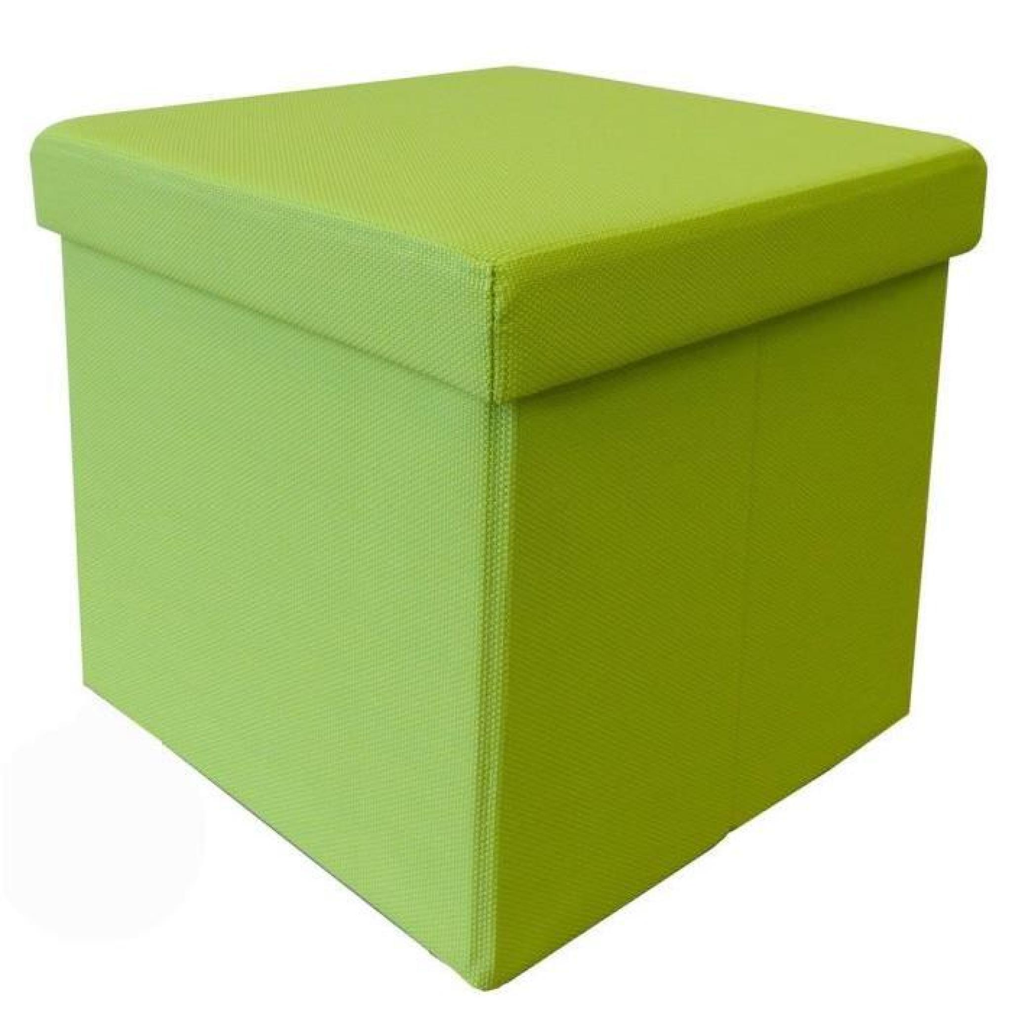 Pouf coffre de rangement pliable Santiago 35x35 cm vert - Achat/Vente pouf exterieur pas cher ...