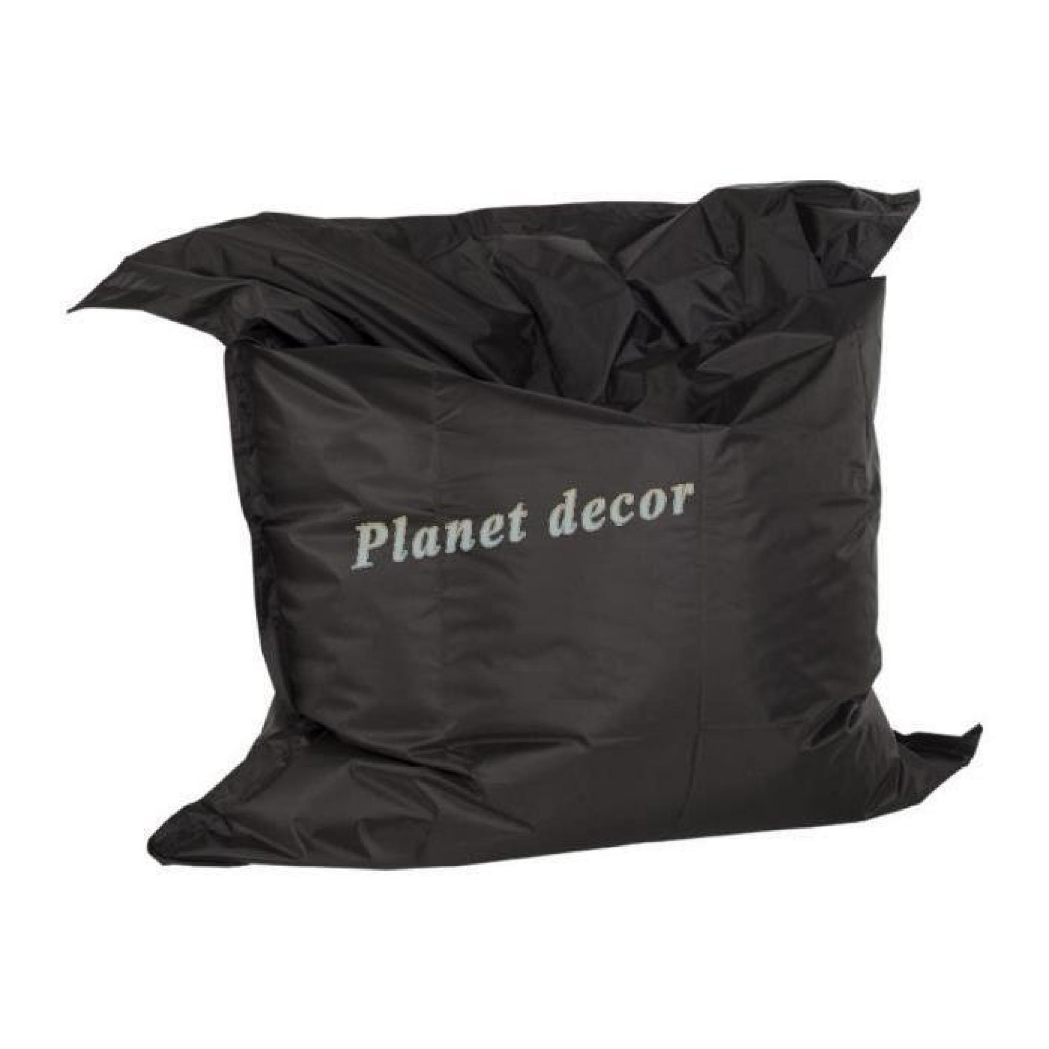 pouf g ant 39 lazy 39 noir achat vente pouf exterieur pas cher. Black Bedroom Furniture Sets. Home Design Ideas
